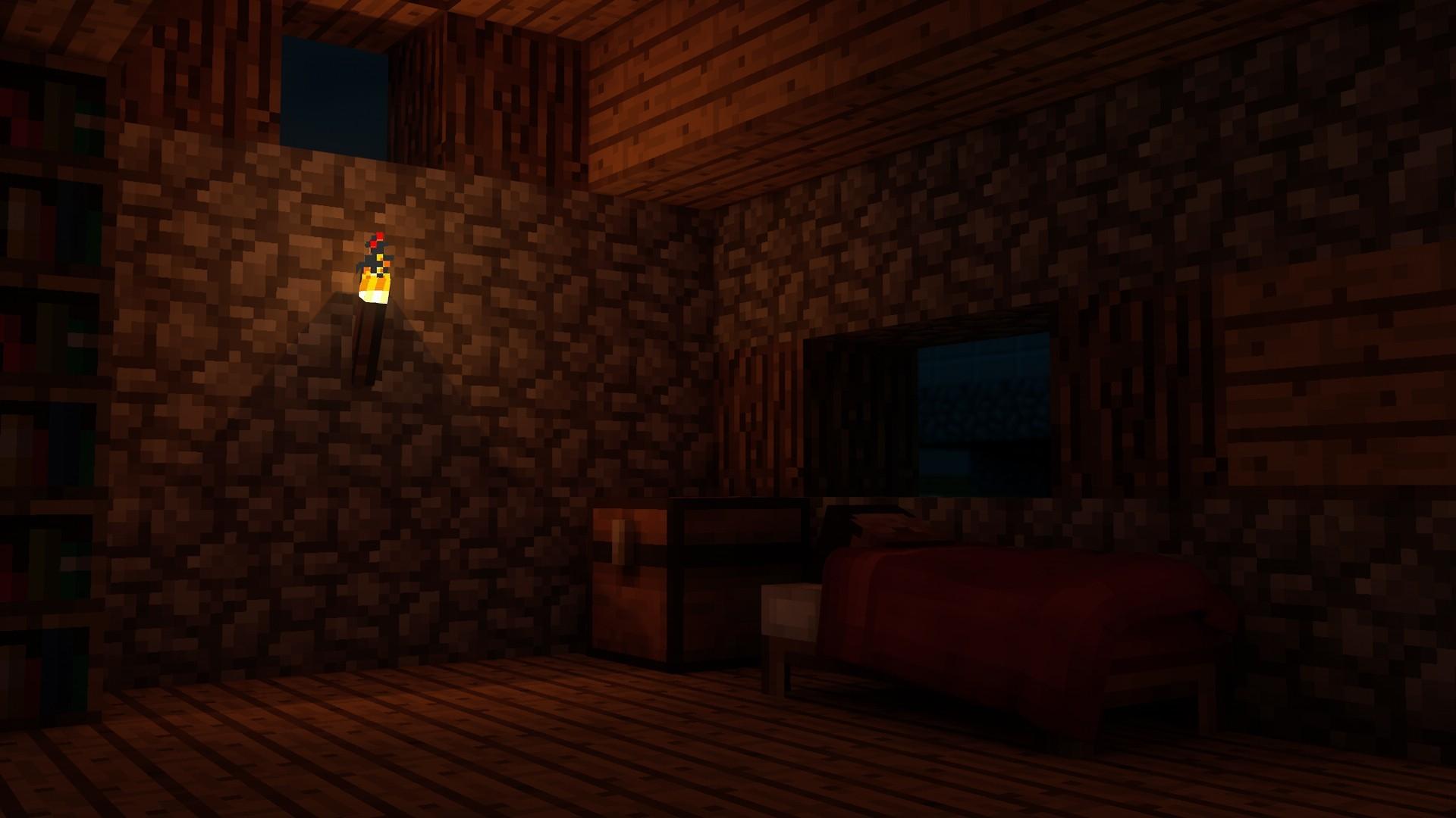 . Wallpaper   video games  night  room  bed  sleeping  house