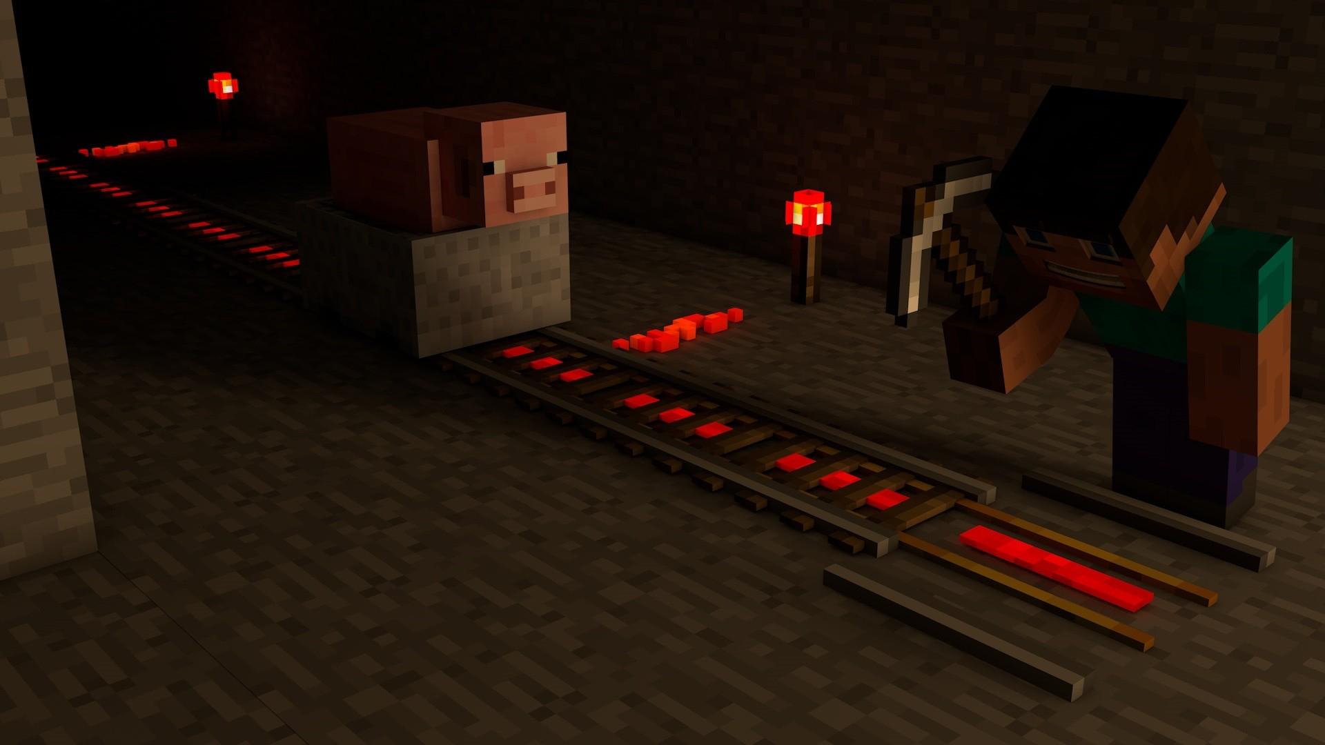 Gambar Kereta Api Minecraft Wallpaper Video Game Jalan Kereta Api Minecraft Sumbu Steve Ranjau Pertambangan Kegelapan Pertandingan Screenshot Permainan Pc 1920x1080 51529 Hd Wallpapers Wallhere