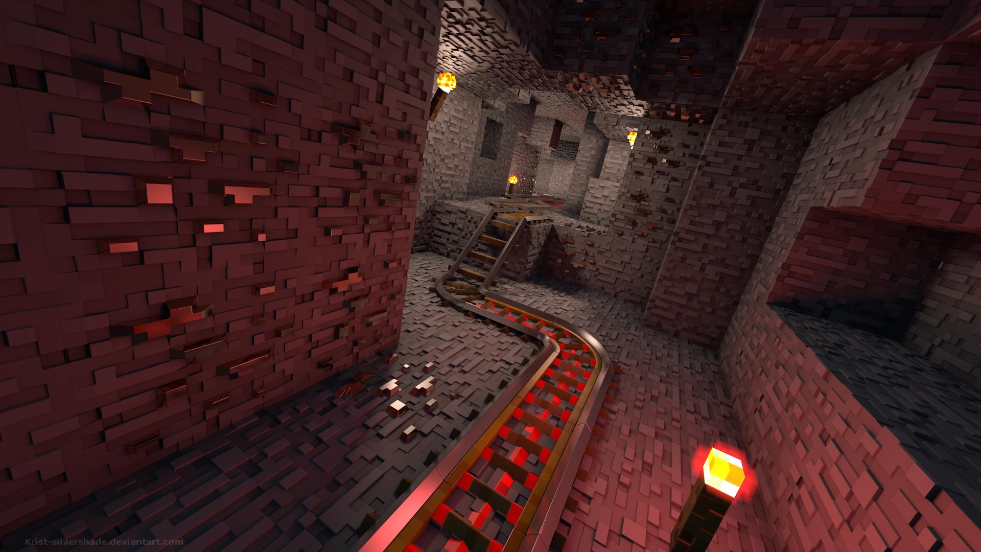 Wallpaper Video Games Render Minecraft Darkness