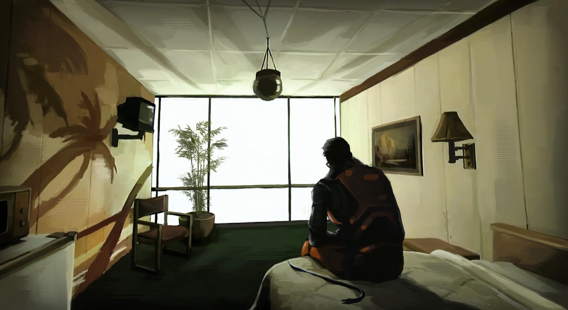 Tele Au Pied Du Lit fond d'écran : jeux vidéo, chambre, les plantes, lit, armure