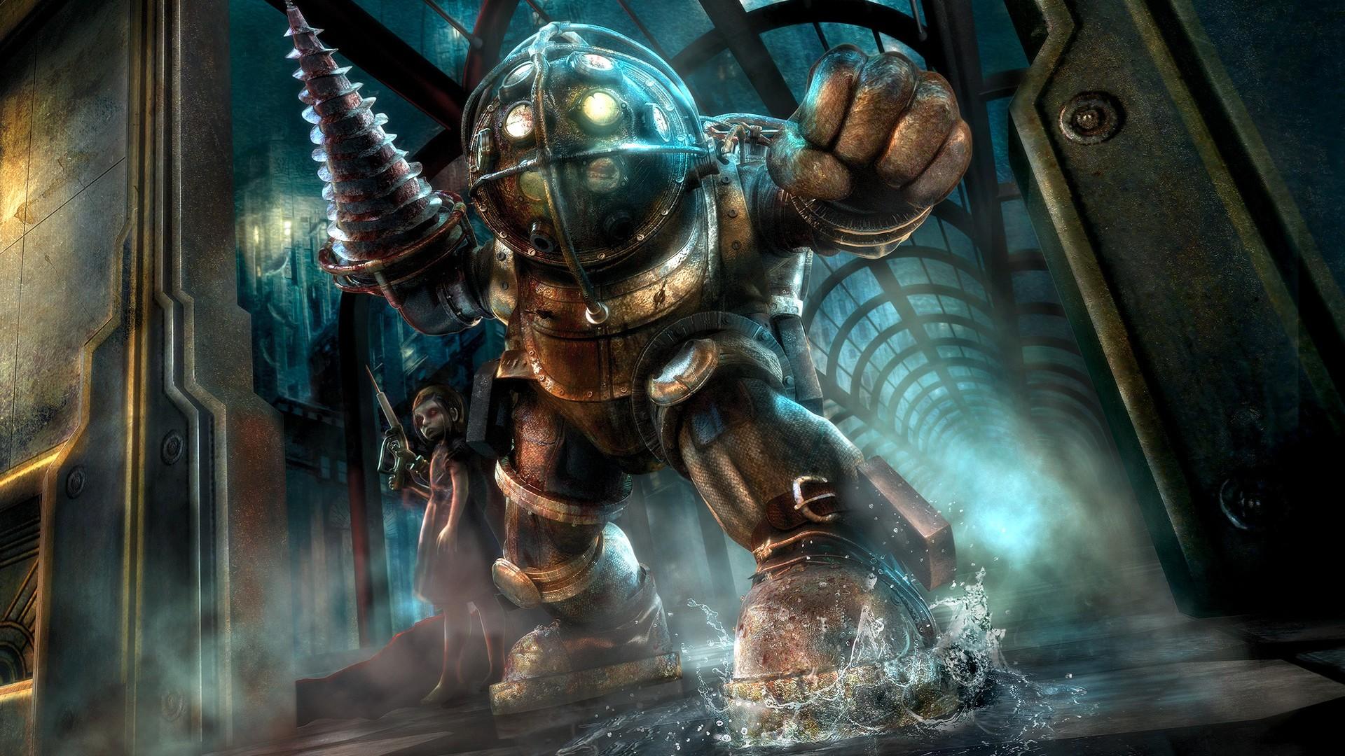 Wallpaper Video Games Sea Big Daddy Bioshock Comics