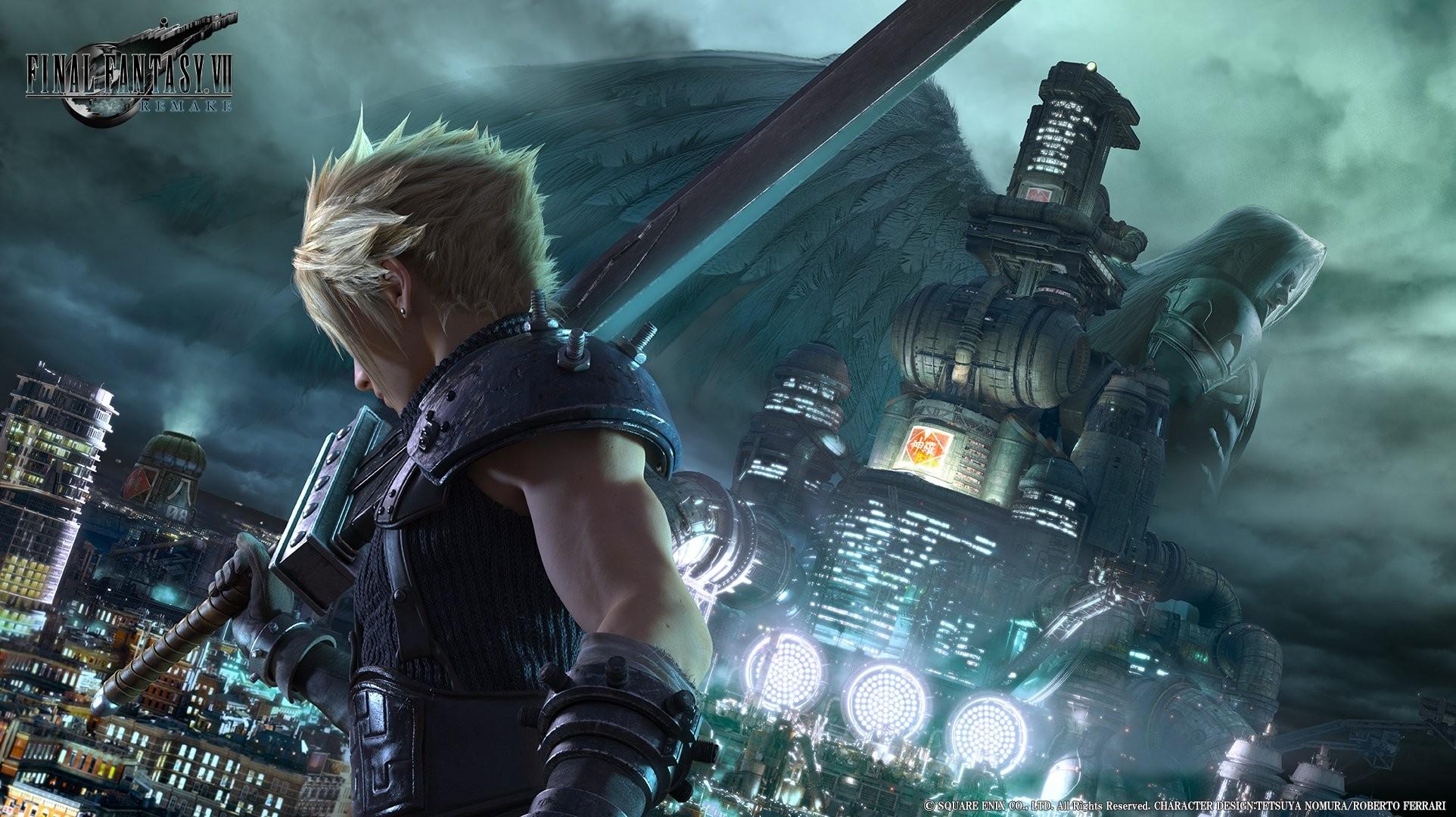 Wallpaper Video Game Langit Final Fantasy VII Cloud Strife