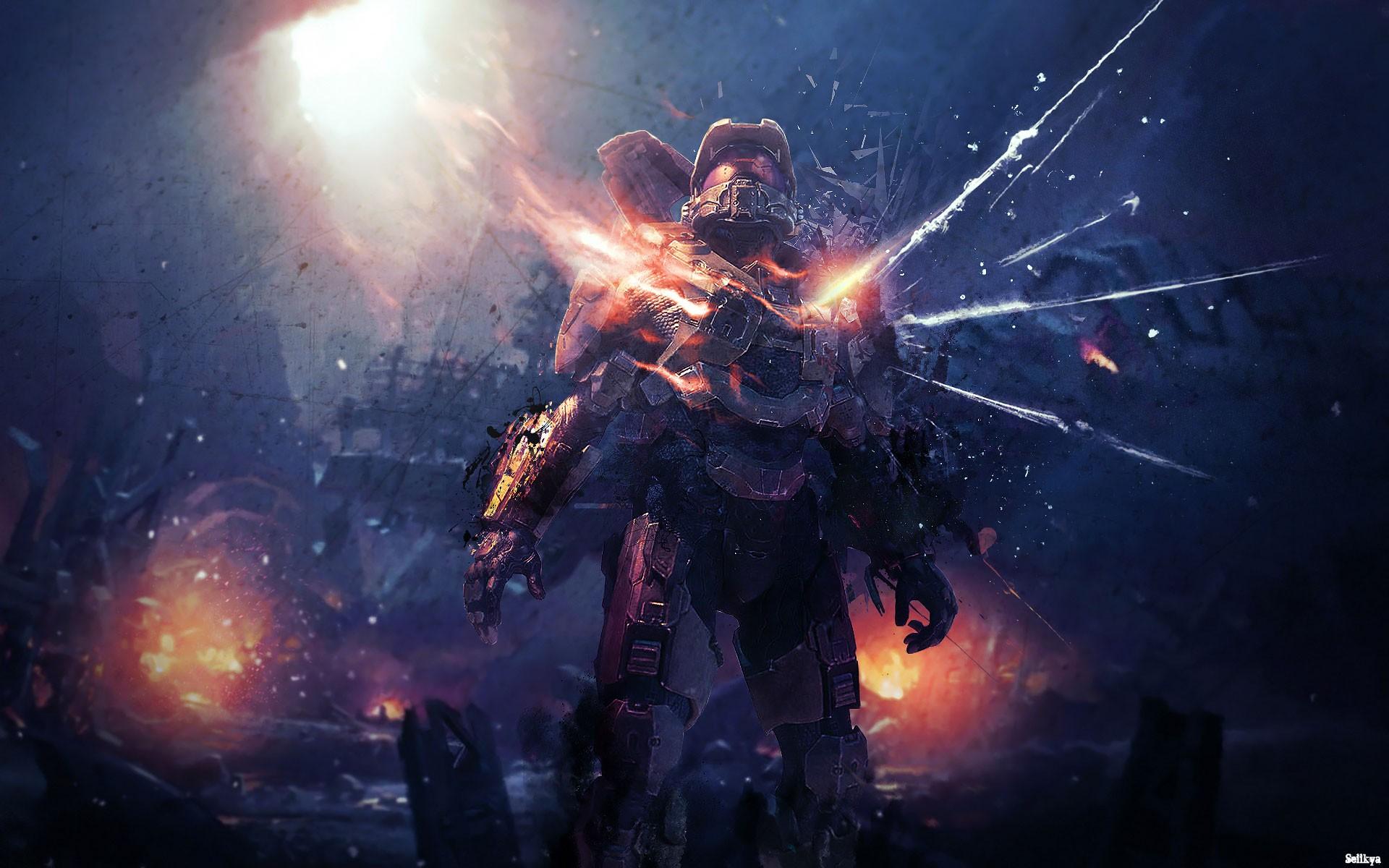Wallpaper Video Games Artwork Master Chief Xbox One Halo