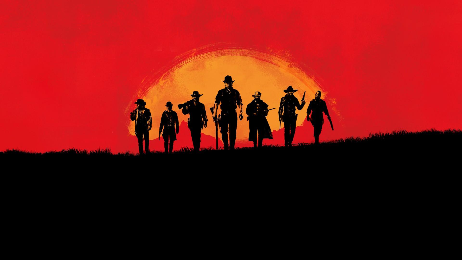 Wallpaper Video Games Sunset Red Sky Silhouette Sunrise
