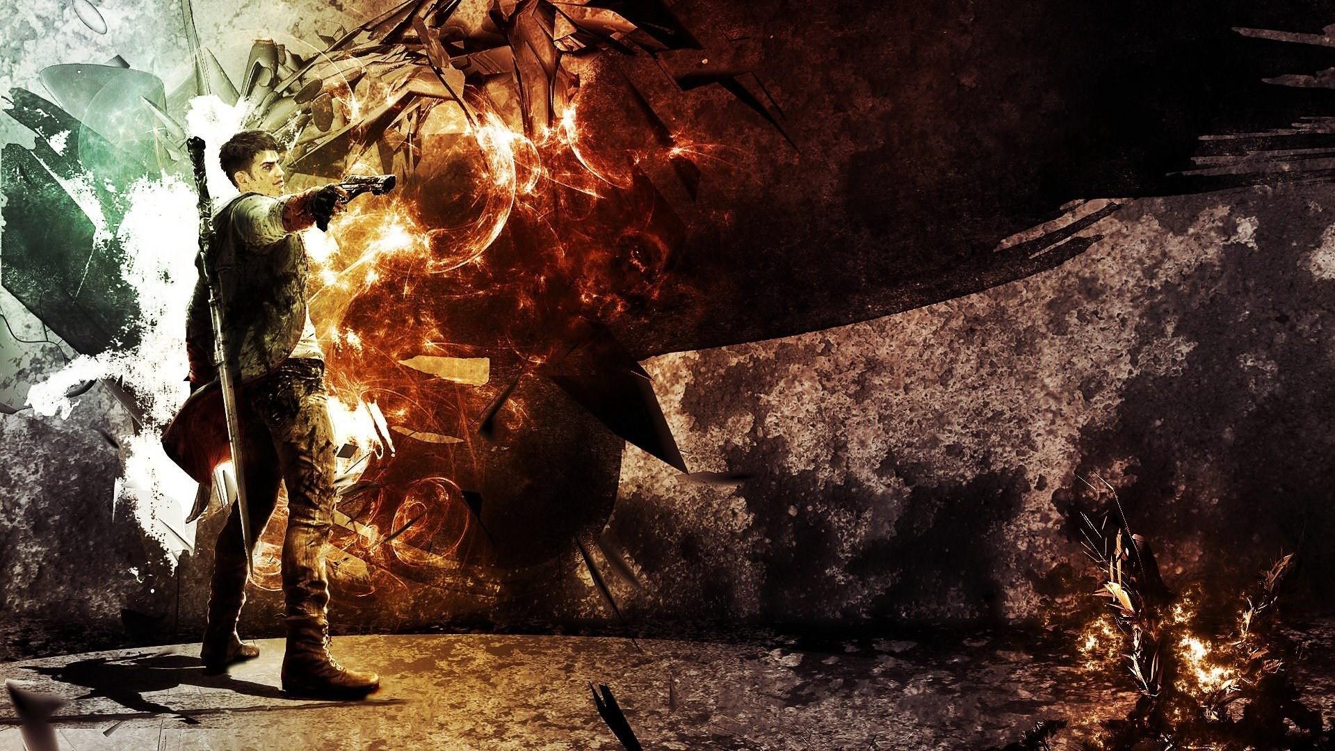 デスクトップ壁紙 ビデオゲーム 剣 洞窟 ピストル Dmc Devil May Cry ダンテ 形成 闇 スクリーンショット 19x1080 Microcosmos 498 デスクトップ壁紙 Wallhere