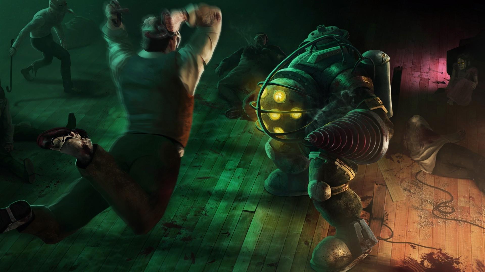 Wallpaper Video Games Underwater Big Daddy Bioshock