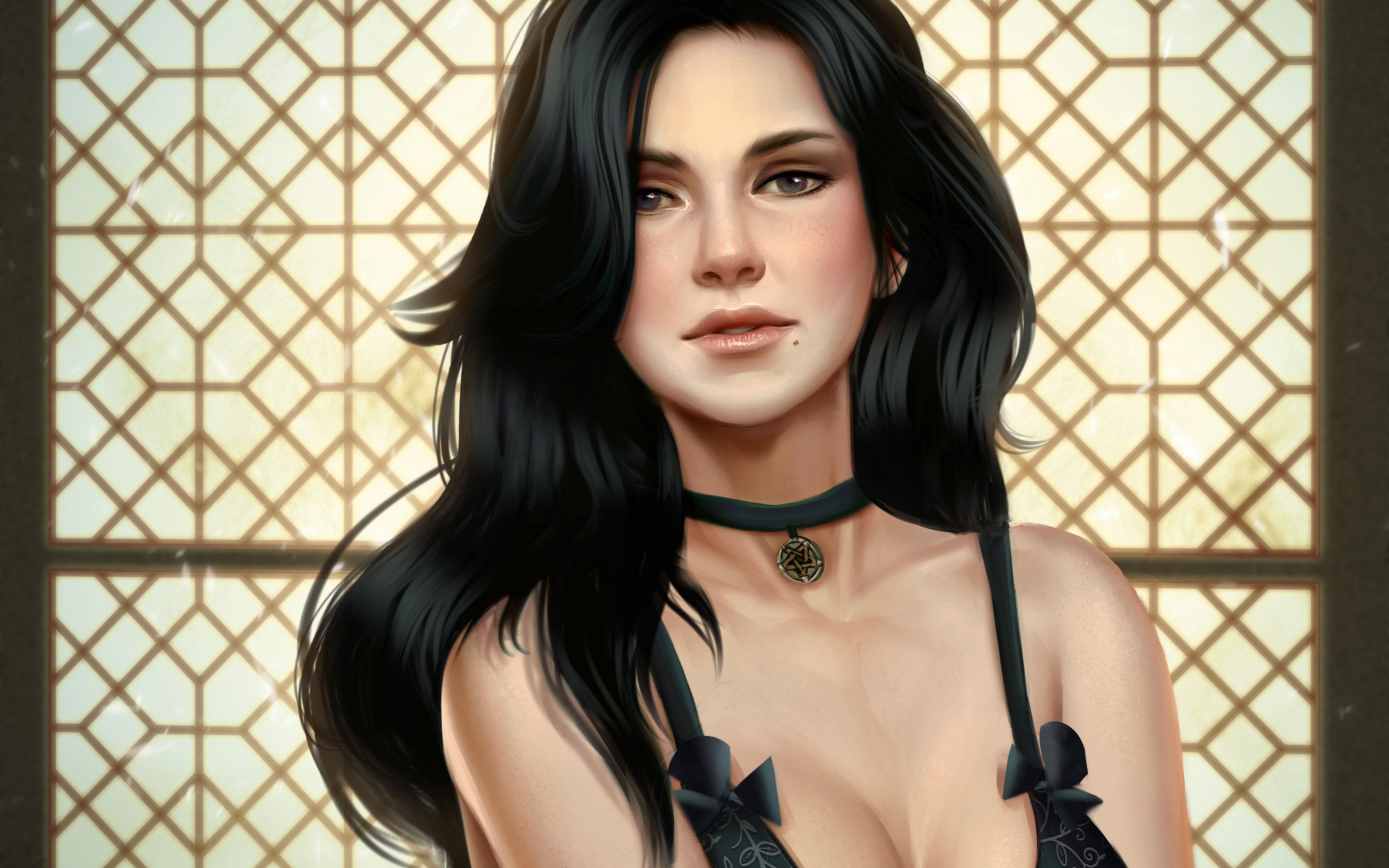Wallpaper Video Games Women Model Long Hair Singer Black Hair
