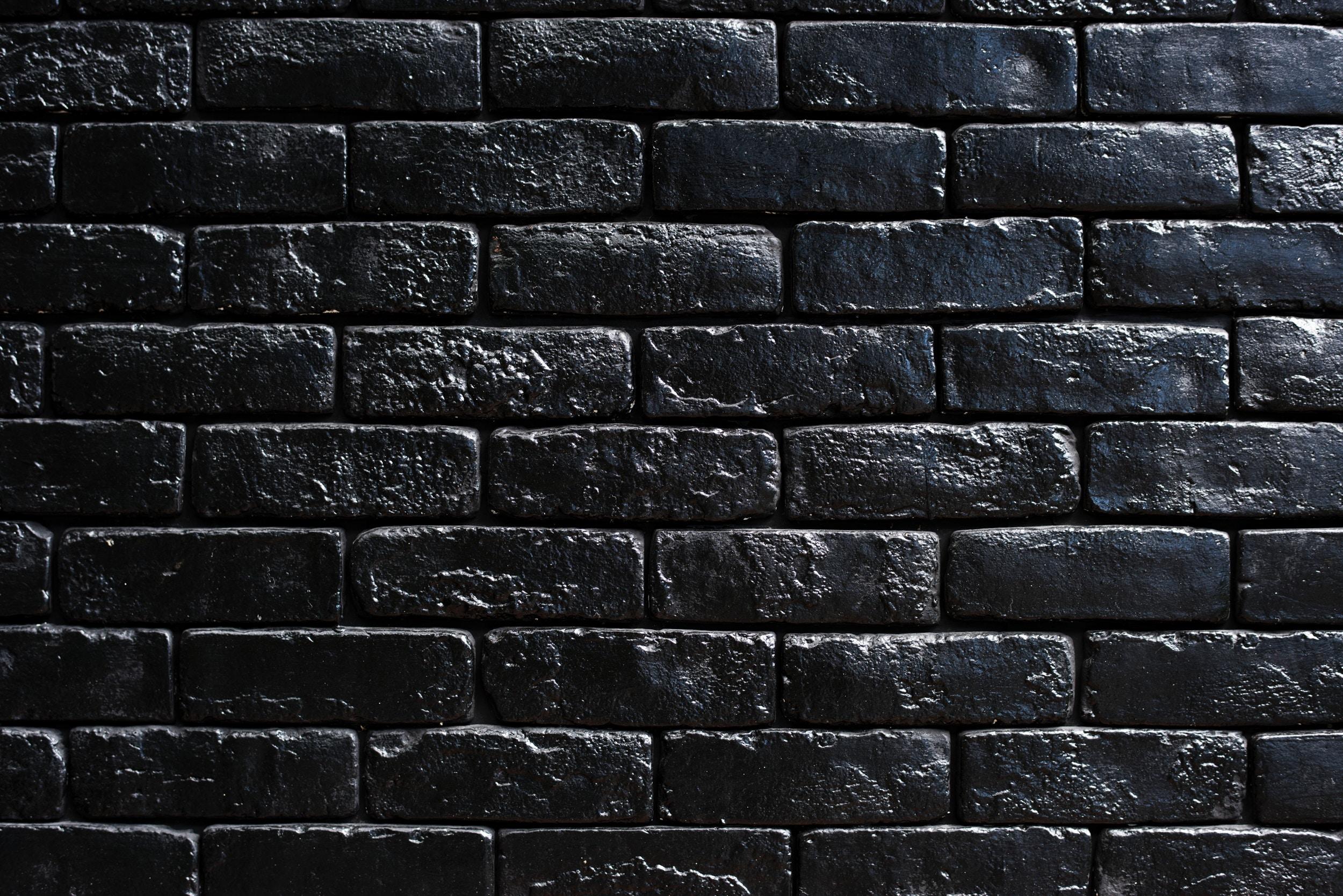 Peindre Un Mur De Brique fond d'écran : mur, briques, noir, peindre 2500x1668