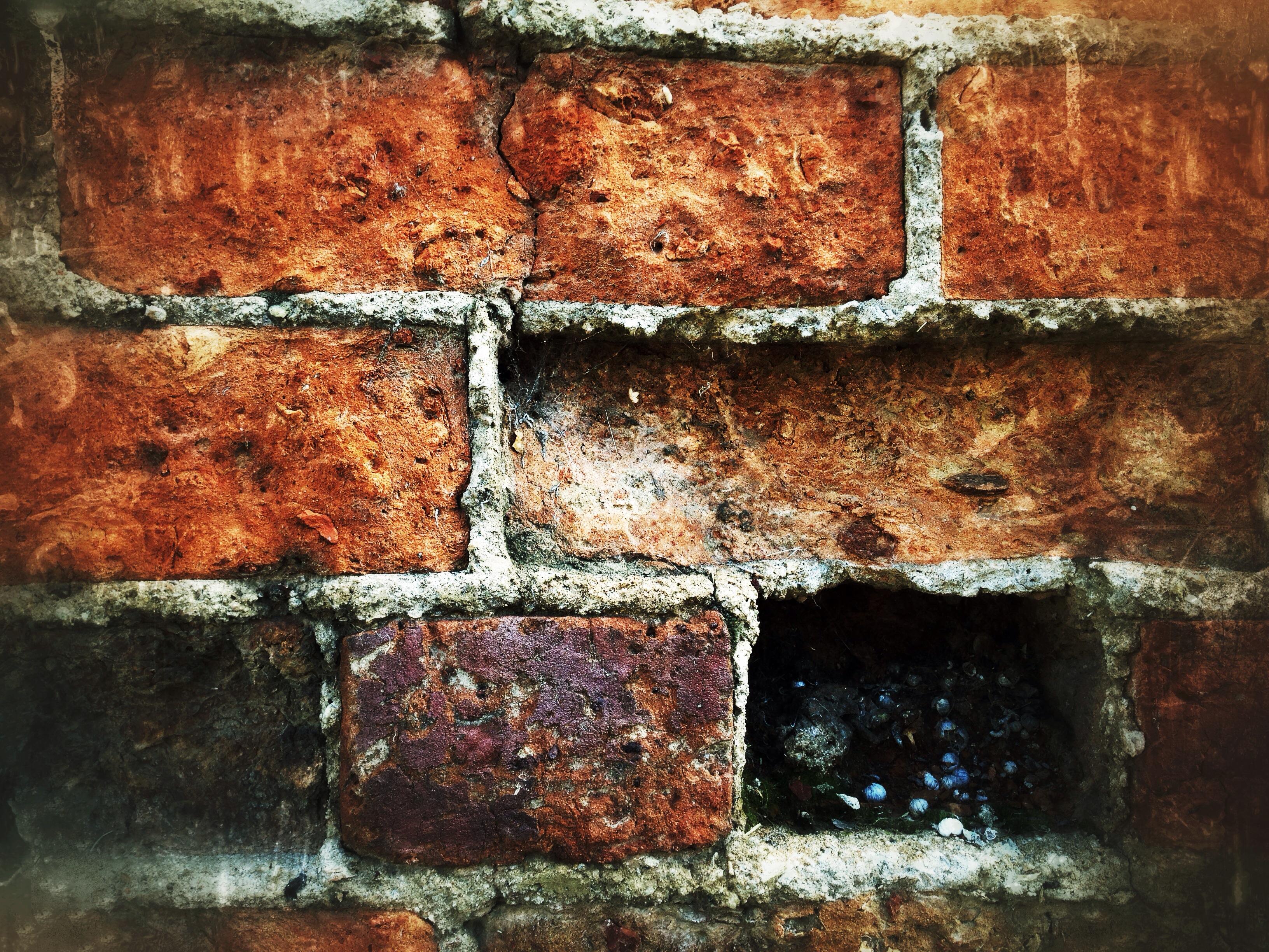 Wallpaper Wall Bricks Rust Texture Iphone Brick