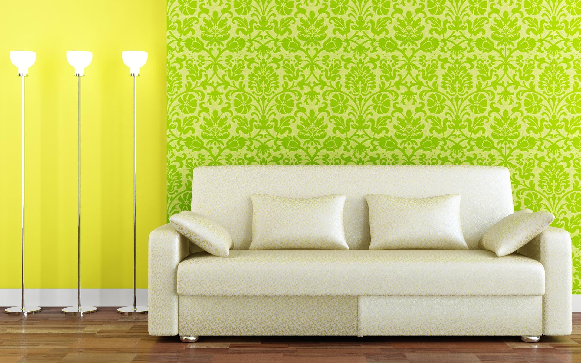 Hintergrundbilder : Mauer, Couch, Grün, Gelb, Innenarchitektur, Sofa ...