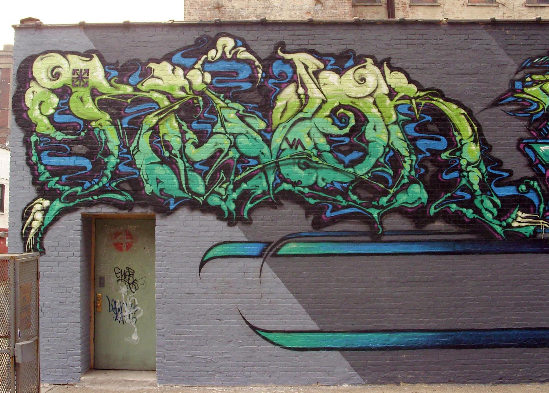 デスクトップ壁紙 緑 サーベル 落書き ストリートアート 壁画