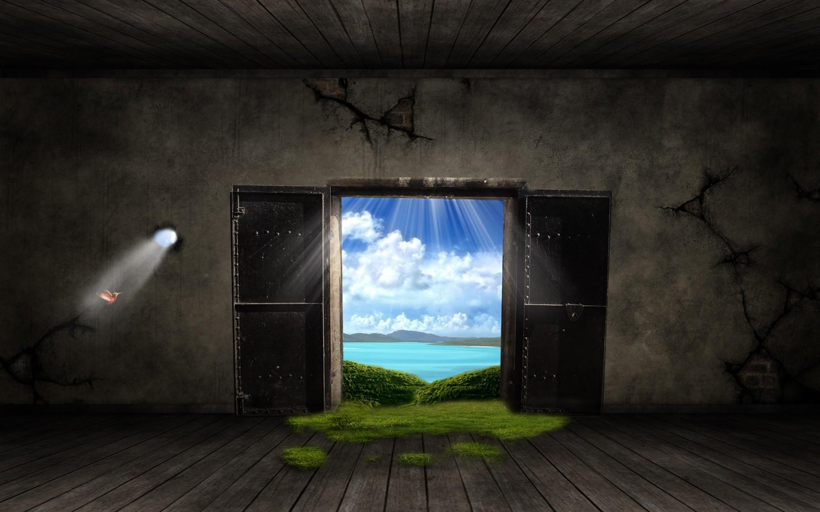 Фото на рабочий стол дверь