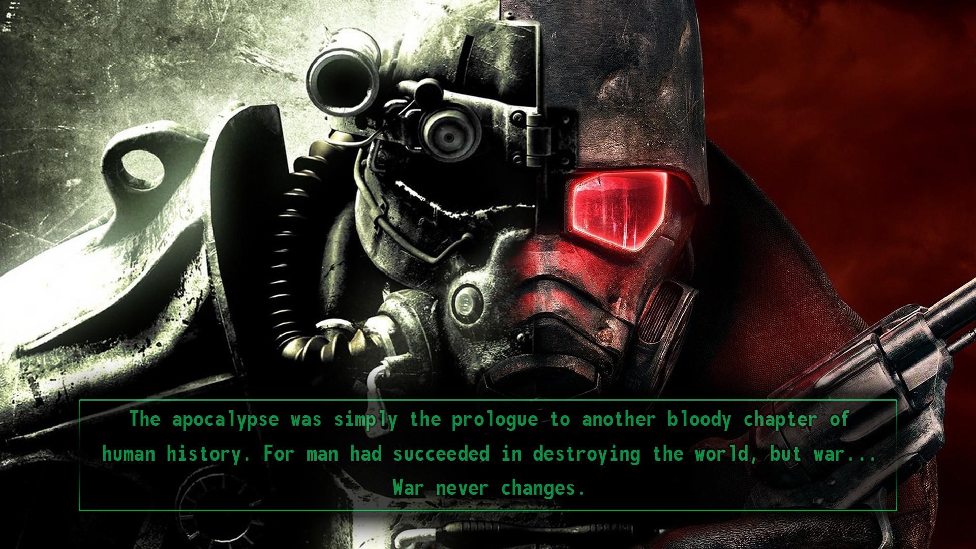 war Fallout Fallout New Vegas Fallout 3 vault tec screenshot computer wallpaper pc game
