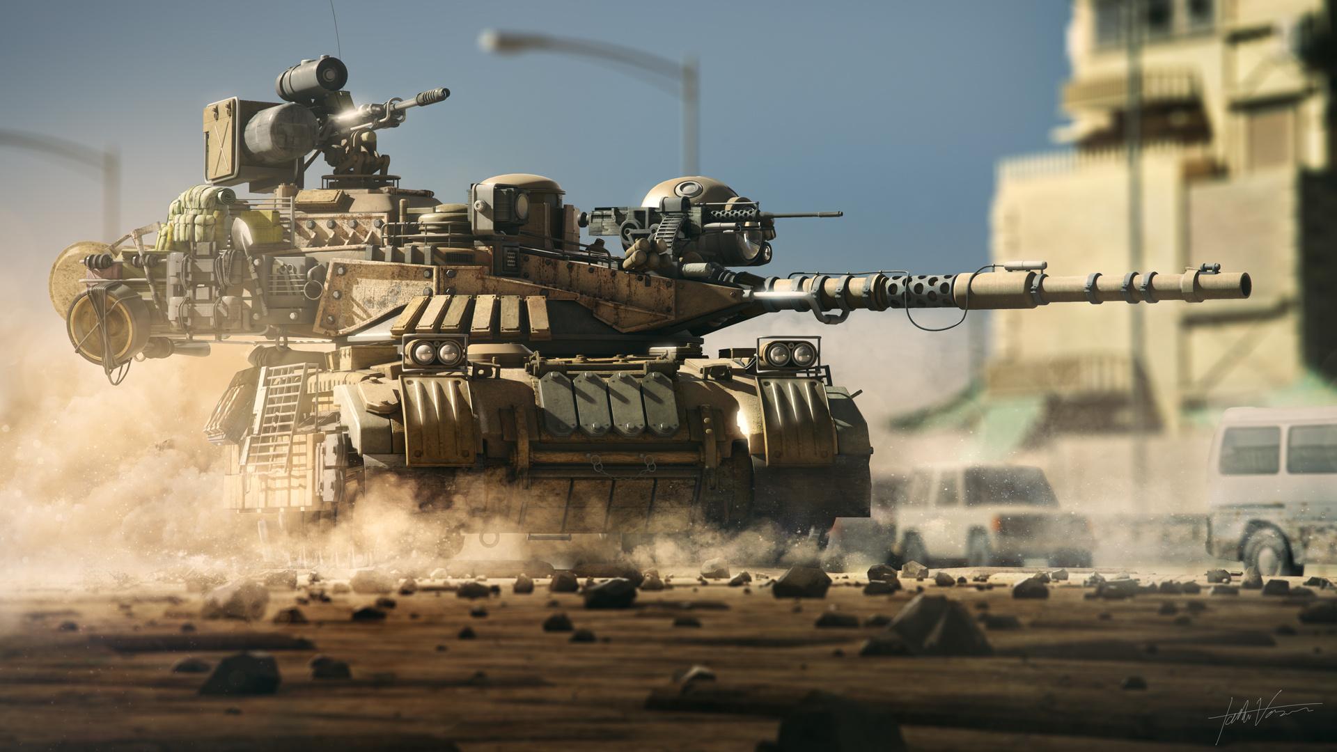 War Render Tank Fantasy Weapon