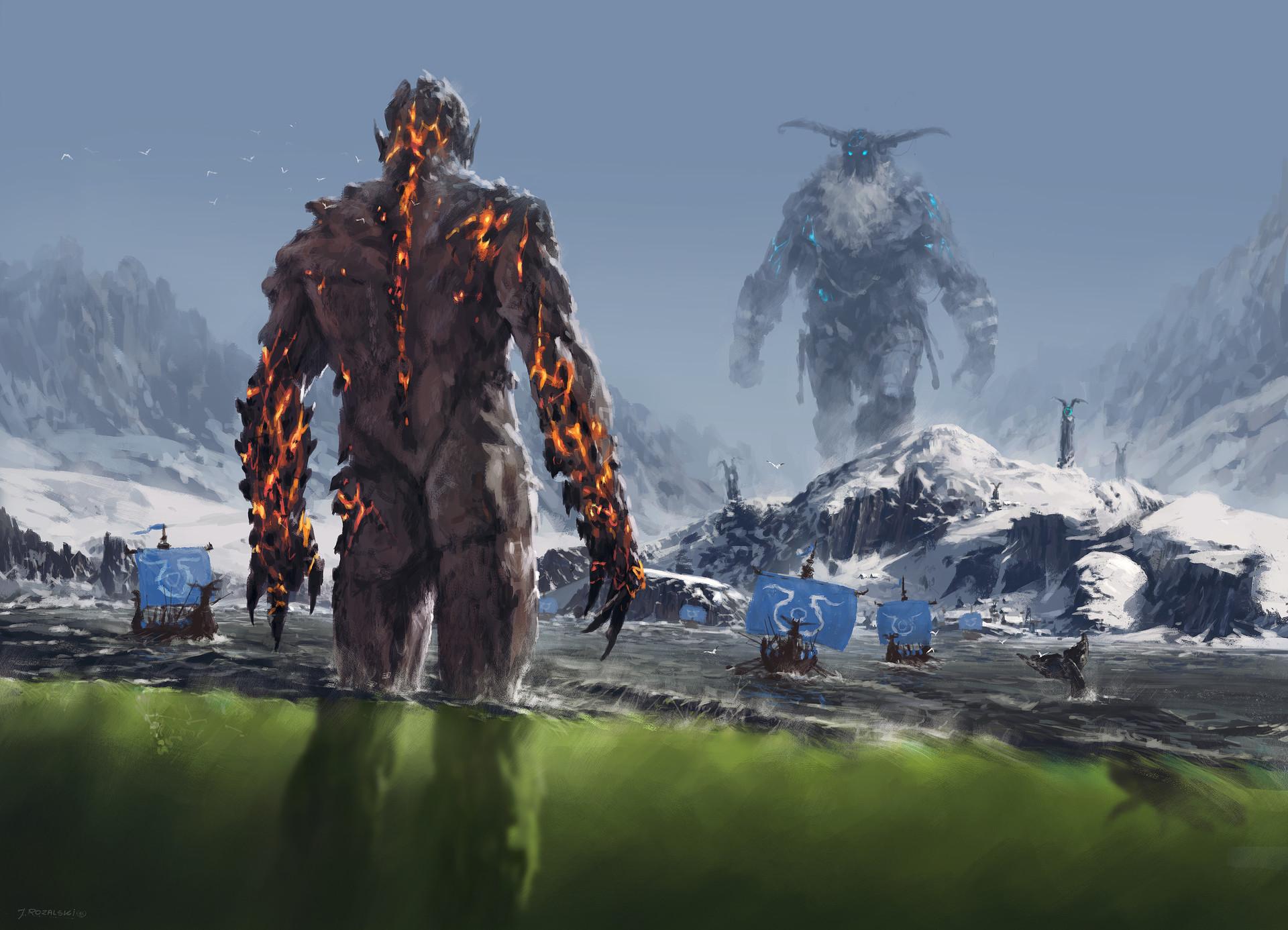 Fantasy Art Giant Monsters