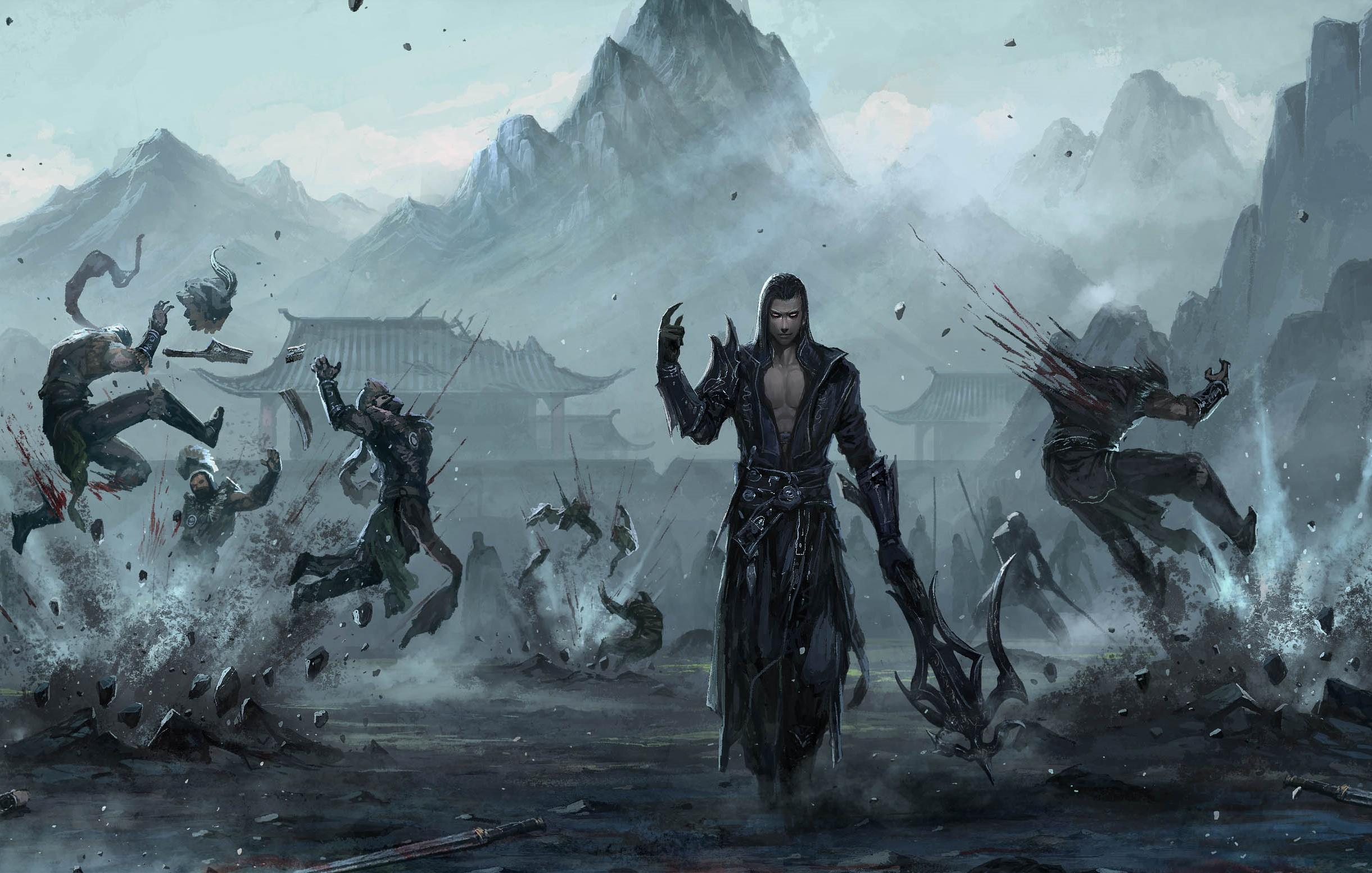 fondos de pantalla guerrero batalla arte fantas237a