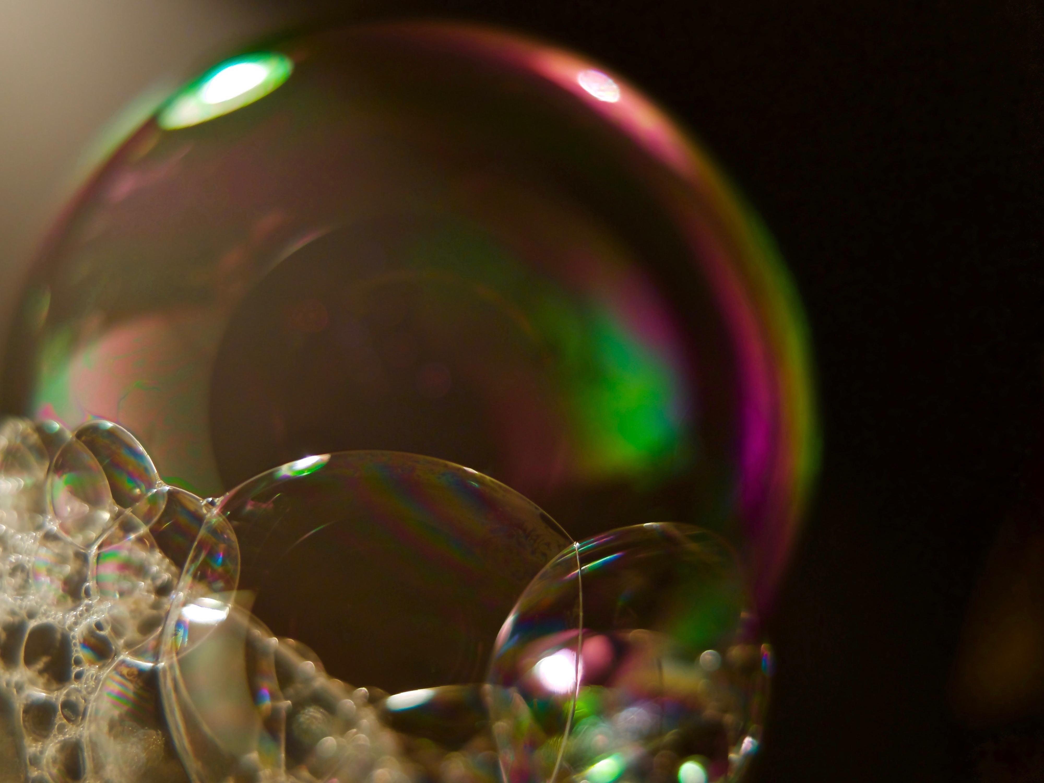 Обои цветных мыльных пузырей картинки