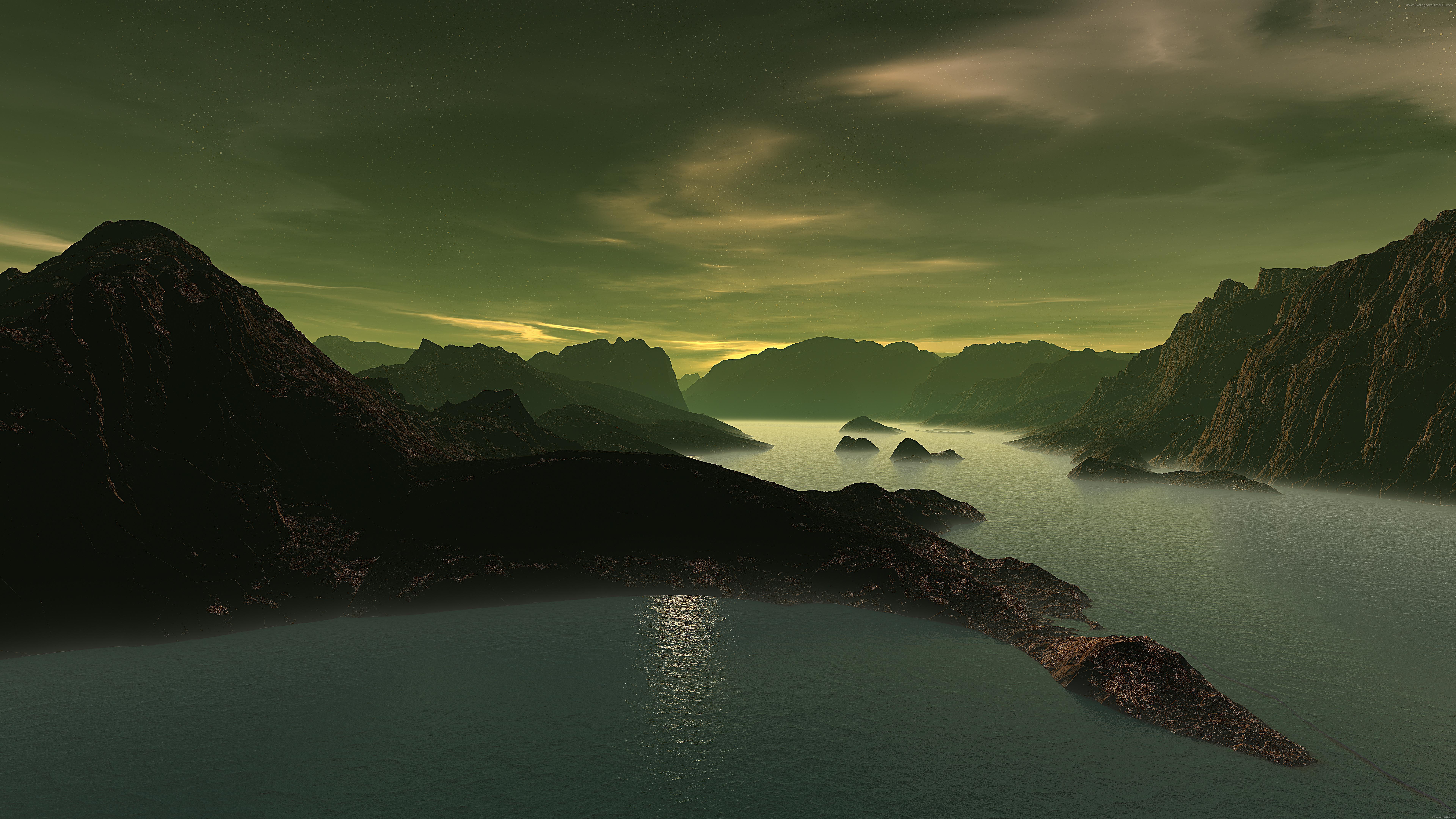 Fondos De Pantalla Agua Puerto De Montaña Rocas Nubes