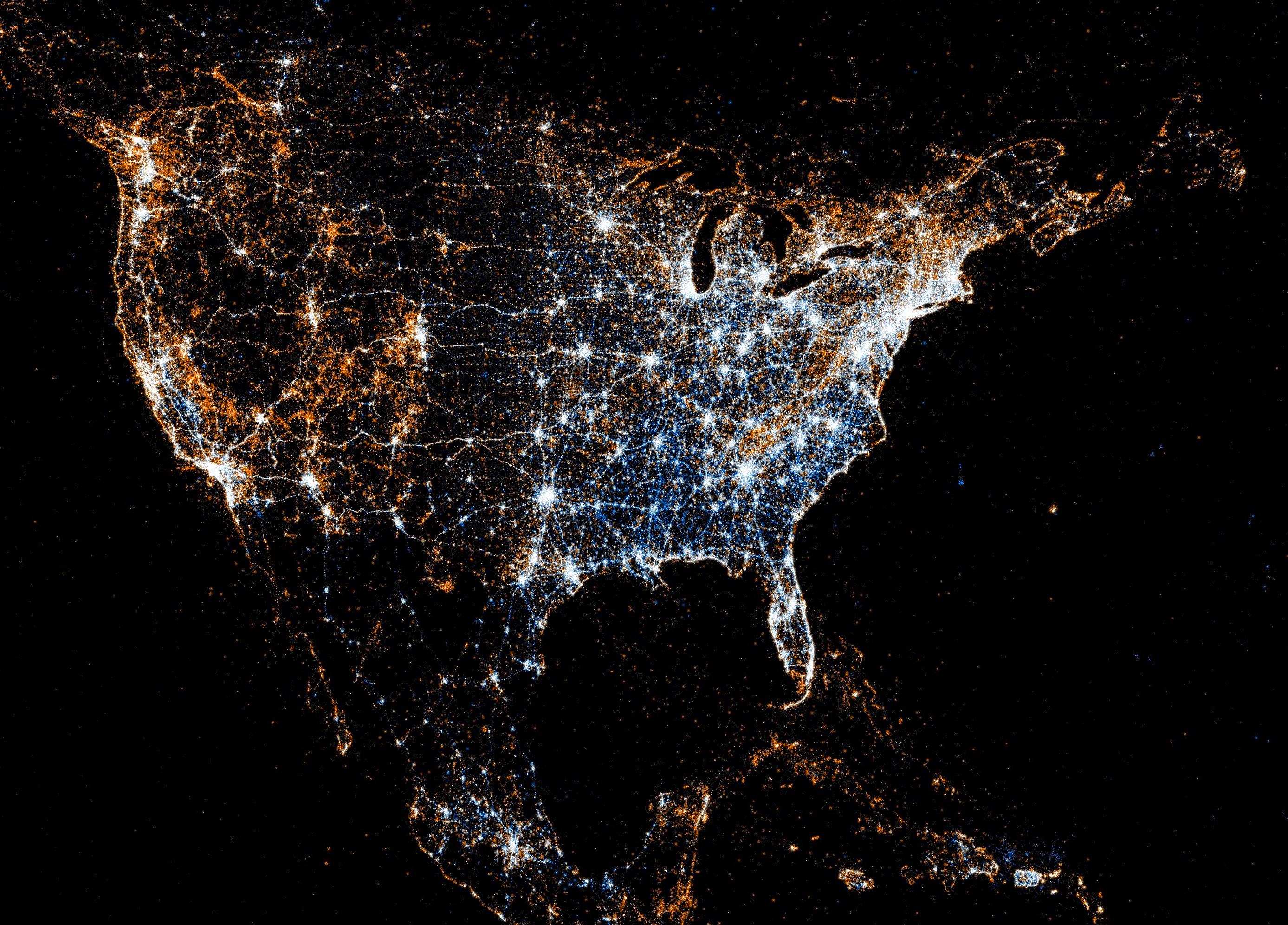 nasa night lights - HD2775×1992