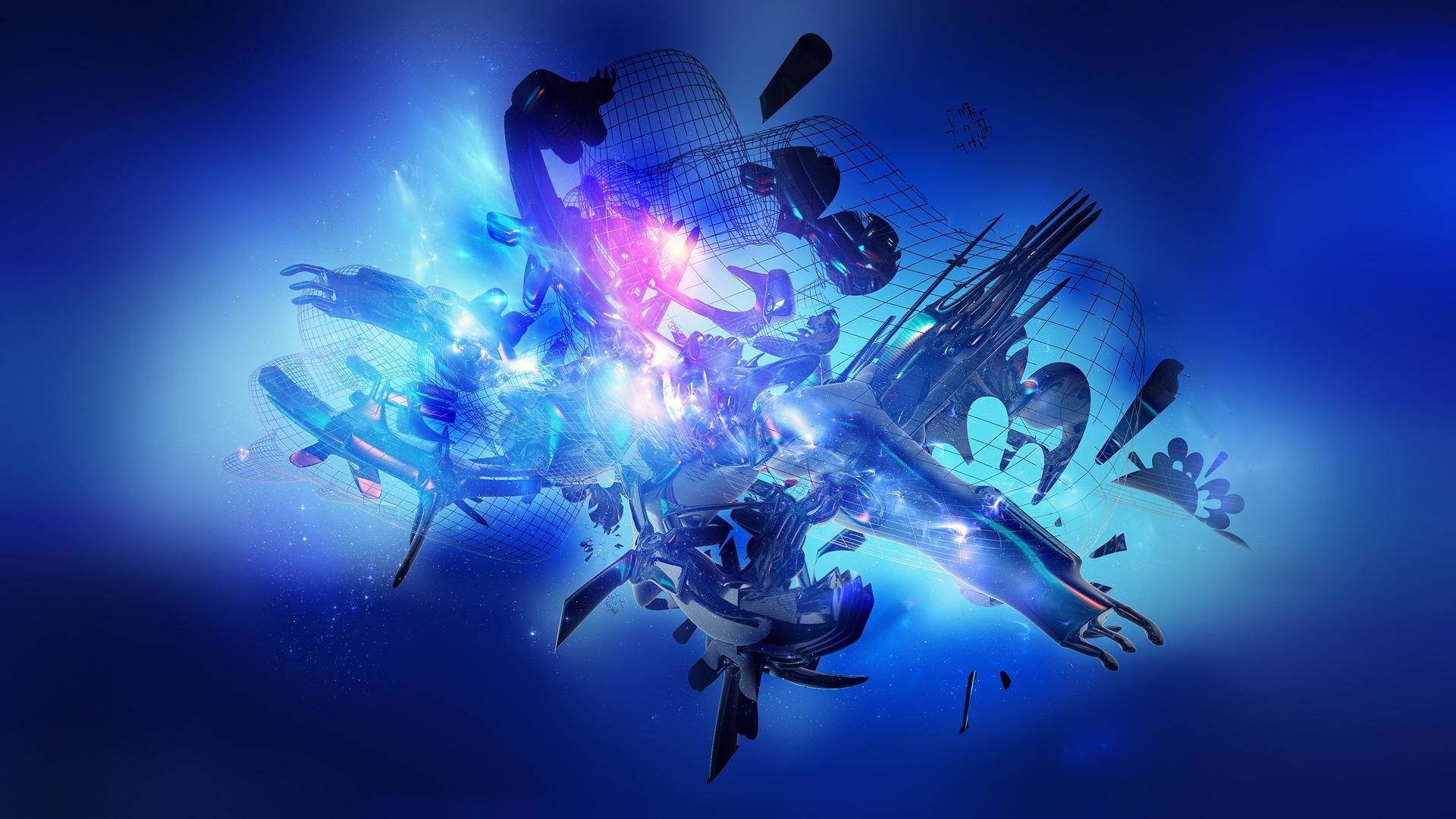 Wallpaper : water, space, sky, underwater, Flash, graphics