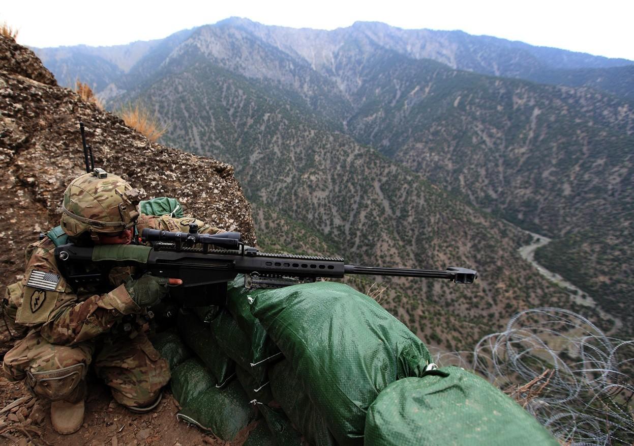 Wallpaper weapon soldier military sniper rifle barrett 50 cal 1247x876 montana29 - Barrett 50 wallpaper ...