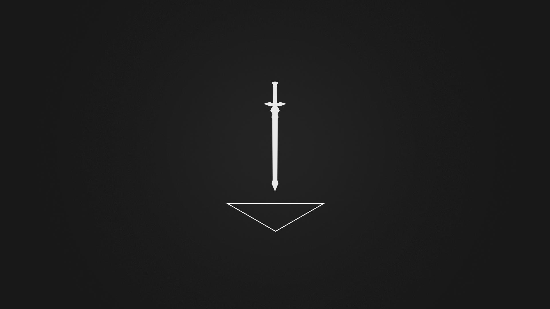 Best Wallpaper Black And White Minimalist - white-black-anime-minimalism-weapon-logo-sword-lighting-line-screenshot-computer-wallpaper-14124  Perfect Image Reference_654662.png