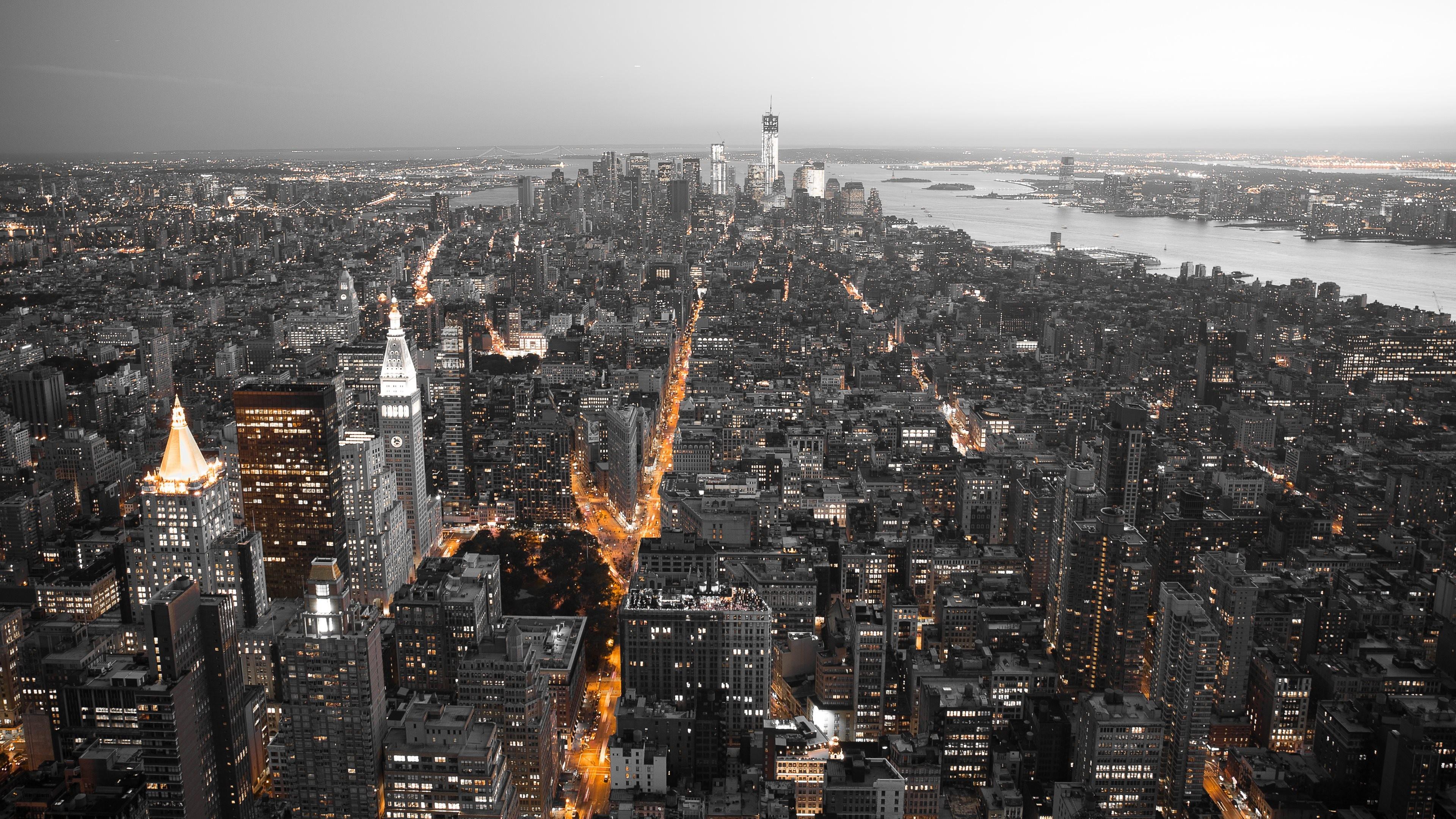 Обои skyline, new, manhattan, york. Города foto 17