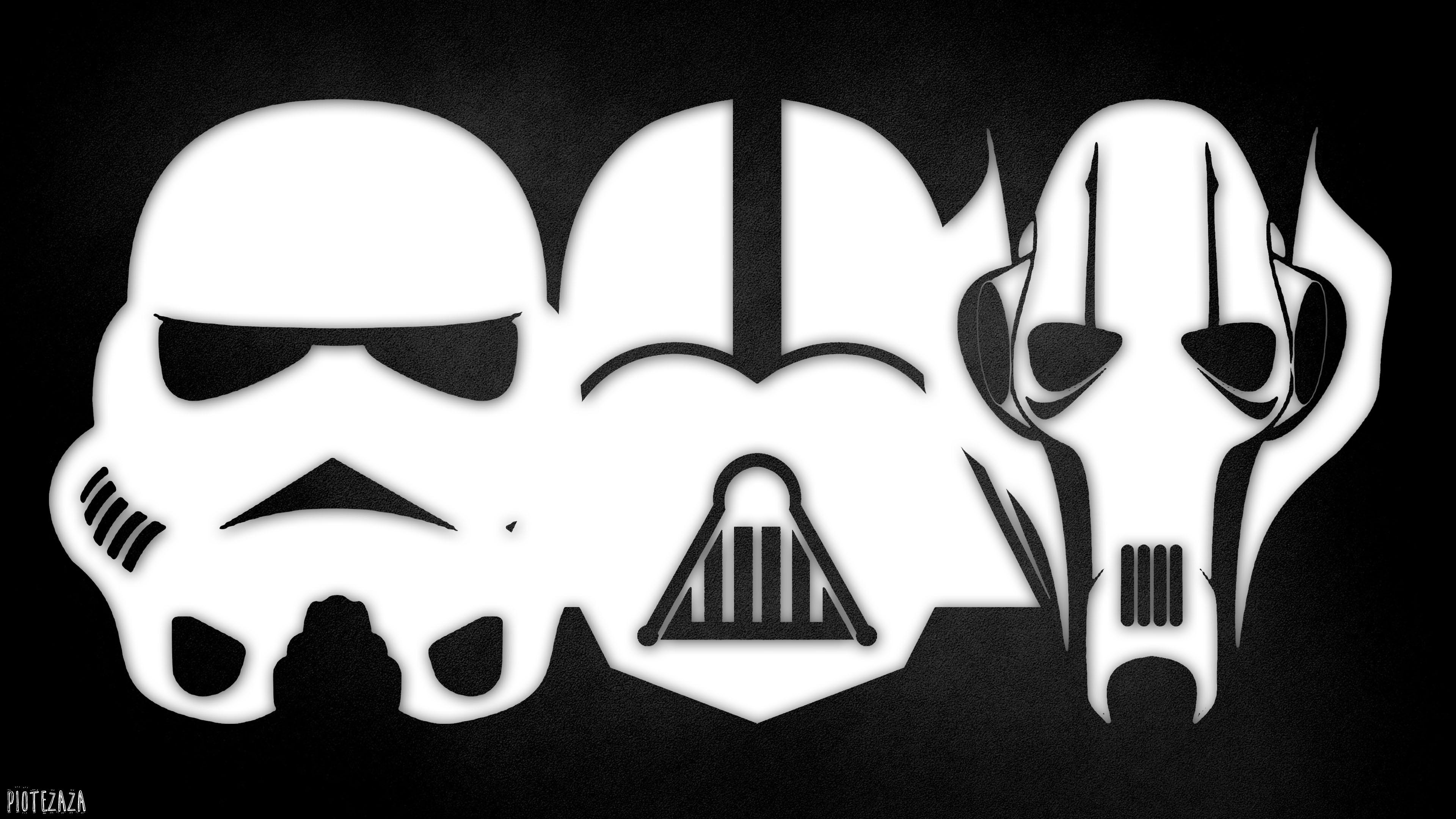 Fond D Ecran Illustration Guerres Des Etoiles Monochrome Logo