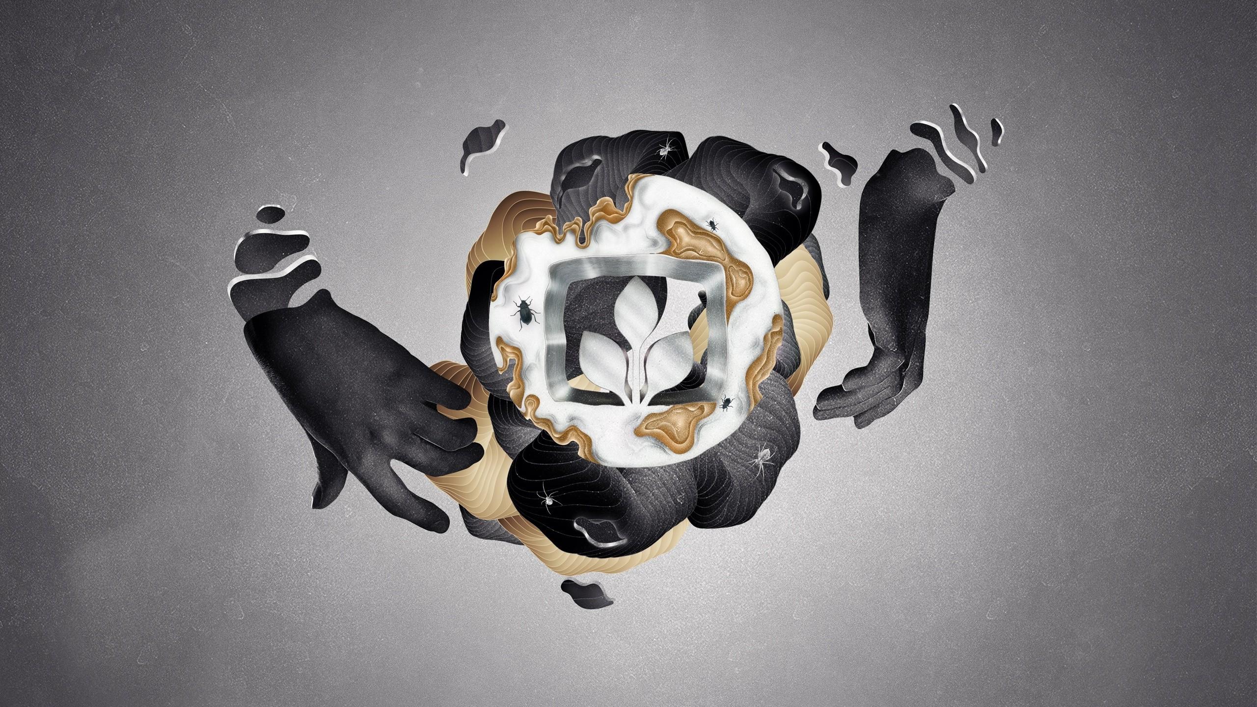 White Black Illustration Digital Art Photography Logo Blue Desktopography Light Hand Darkness Costume 2560x1440 Px Computer