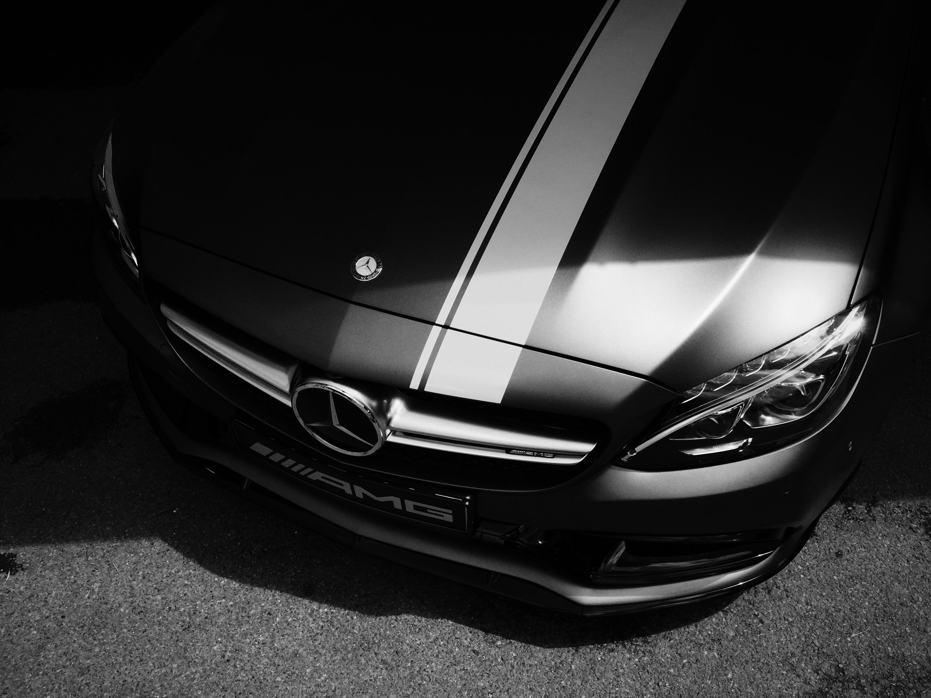 Wallpaper satu warna kap Mercedes Benz Mobil sport