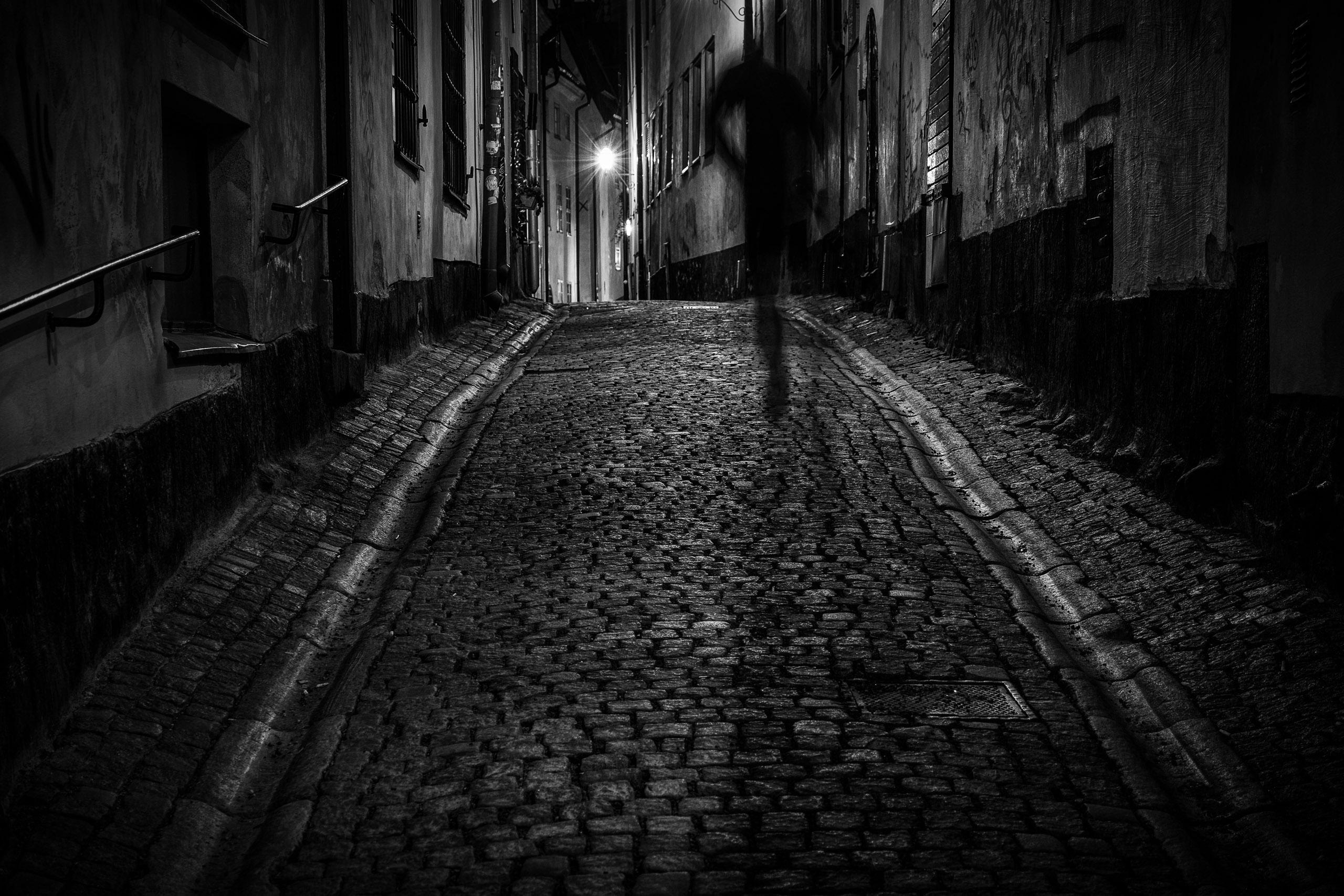Wallpaper Dark City Street Night Architecture Cobblestone Urban Sky Stones Shadow Bricks Silhouette Evening Lamp Gloomy Texture