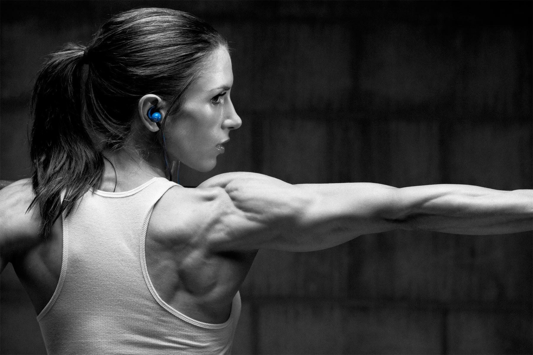 Wallpaper : blue, fitness model, bodybuilding, barbell, Pauline ... for Bodybuilding Art Photography  575lpg