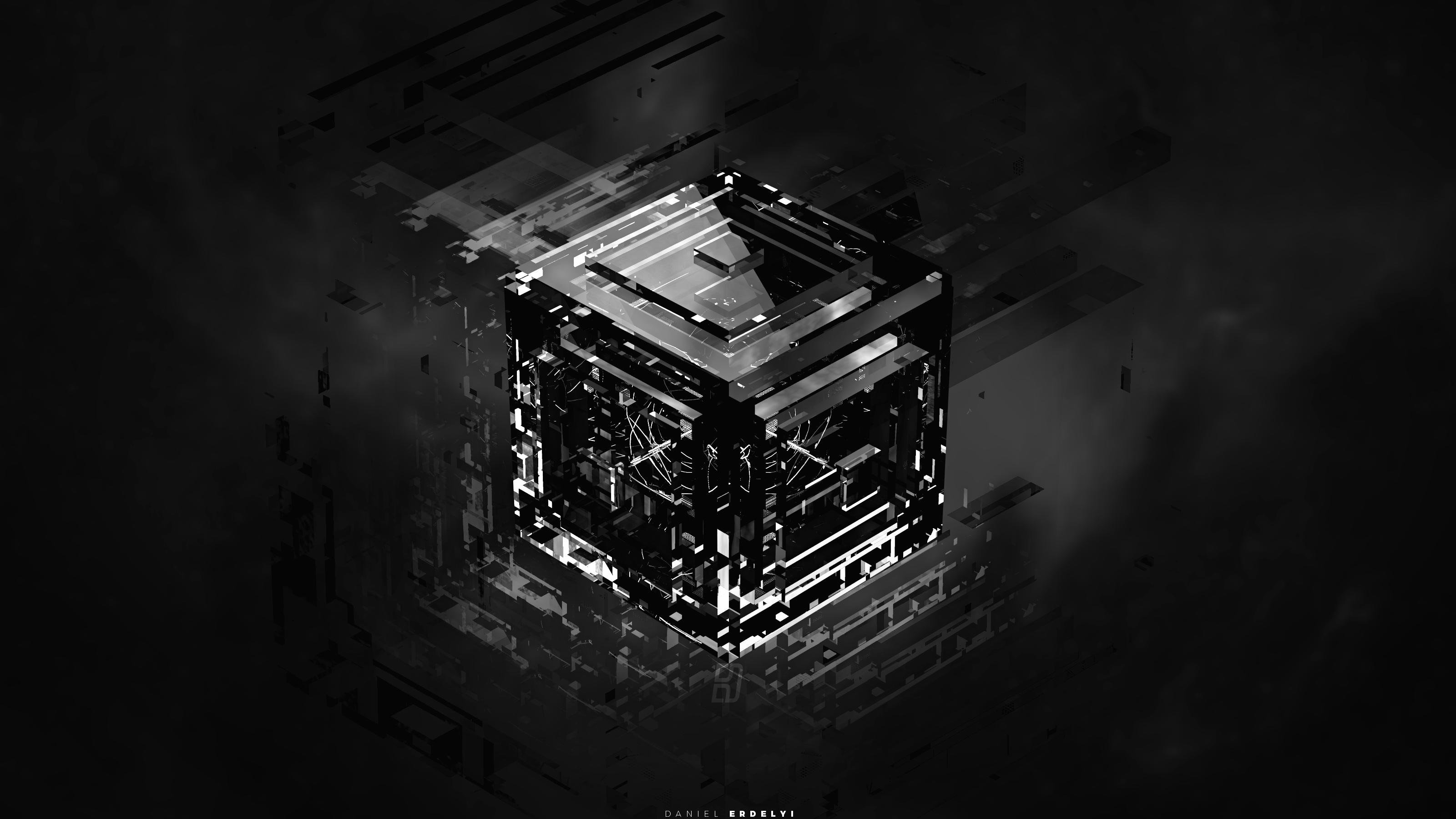 картинка для рабочего стола черные кубы под юбкой