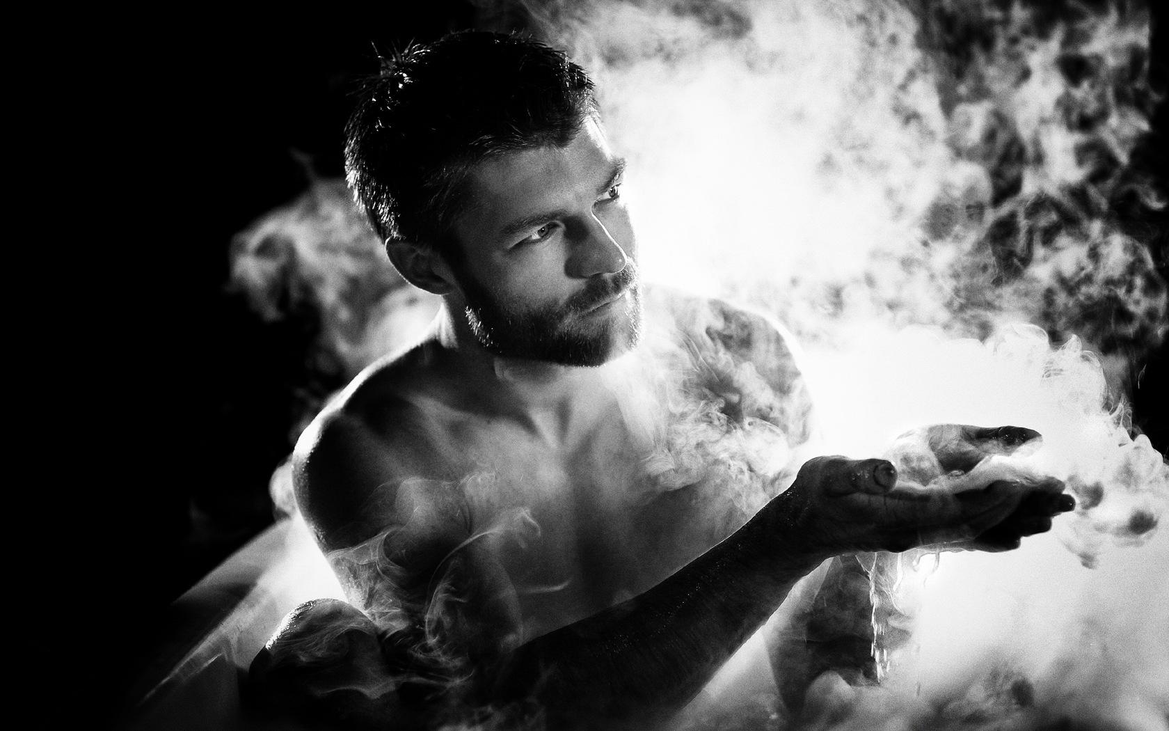White Black Monochrome Photography Smoke Man Darkness And Film Noir