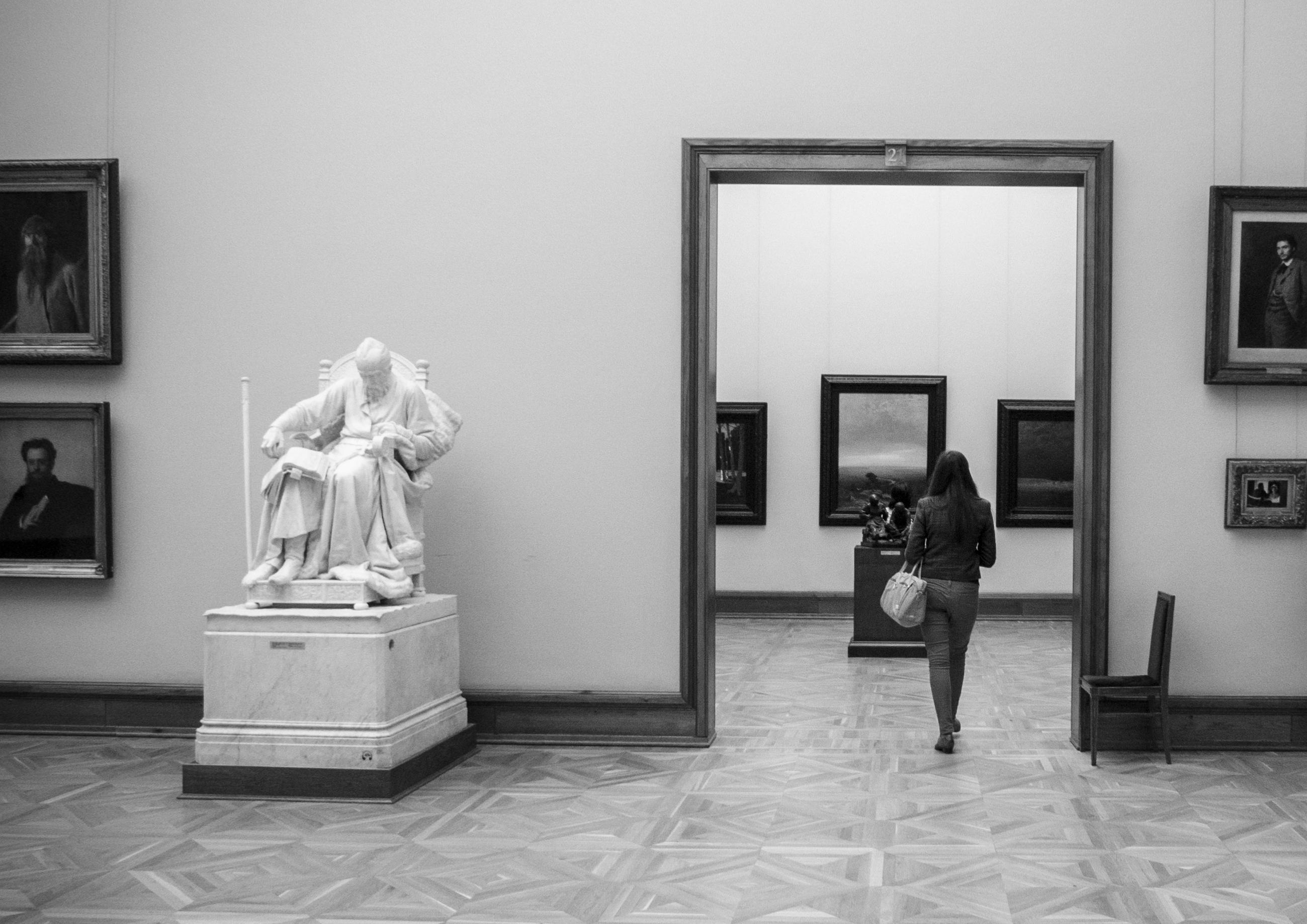 Картинки галерея черно белые