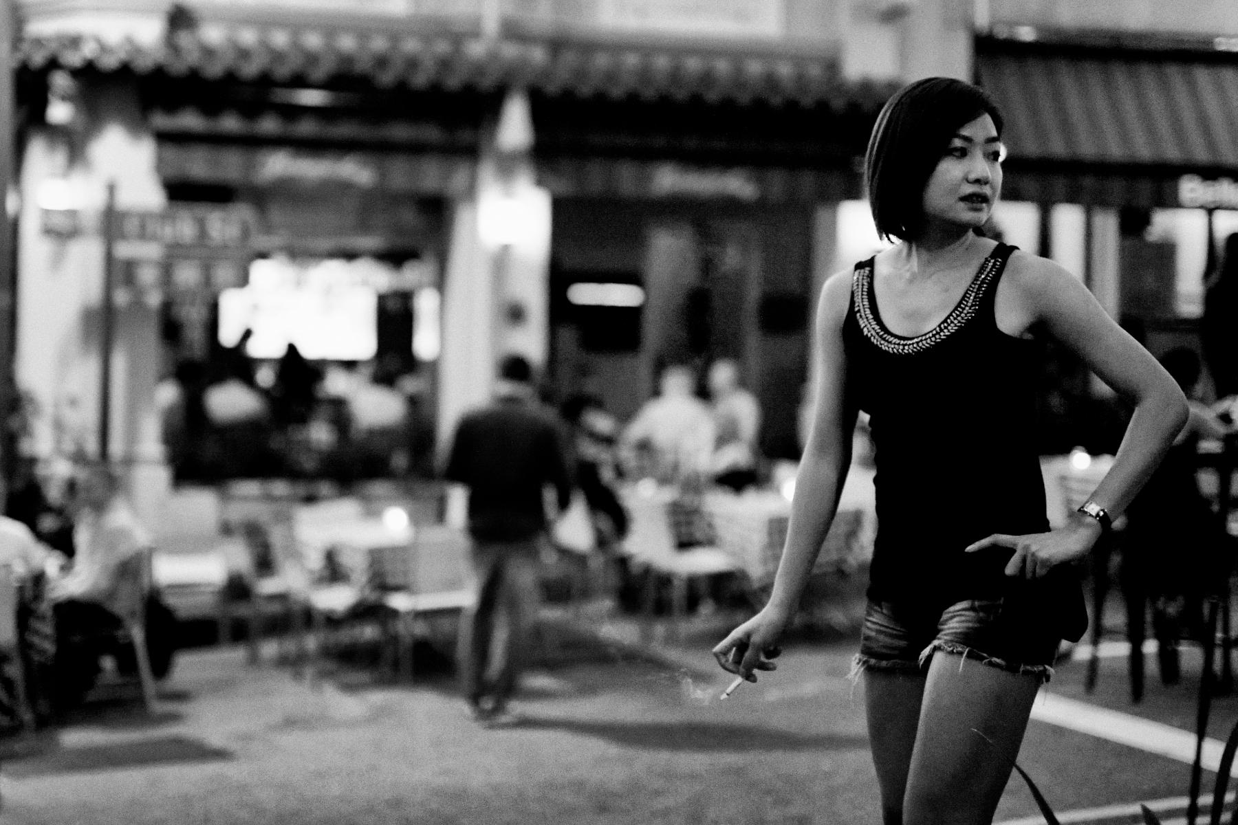 Wallpaper street night singapore vehicle road smoke smoking evening standing nikon infrastructure art beautiful girl woman fun style