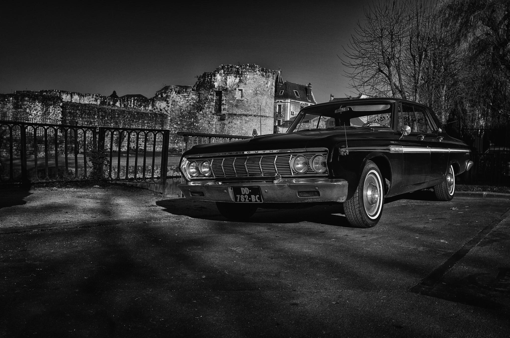 fond d u0026 39  u00e9cran   vieux  monochrome  nuit  v u00e9hicule  la photographie  voiture ancienne  plymouth
