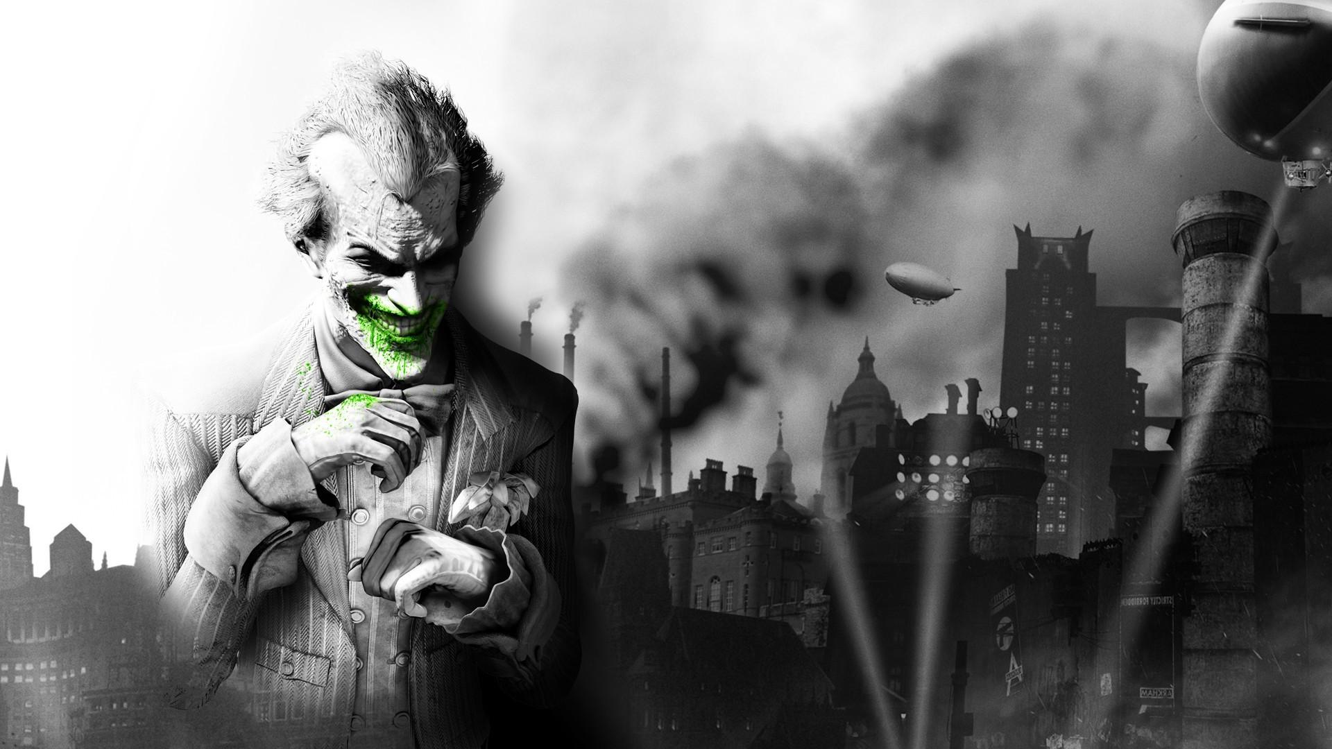 wallpaper : video games, batman arkham city, joker, statue