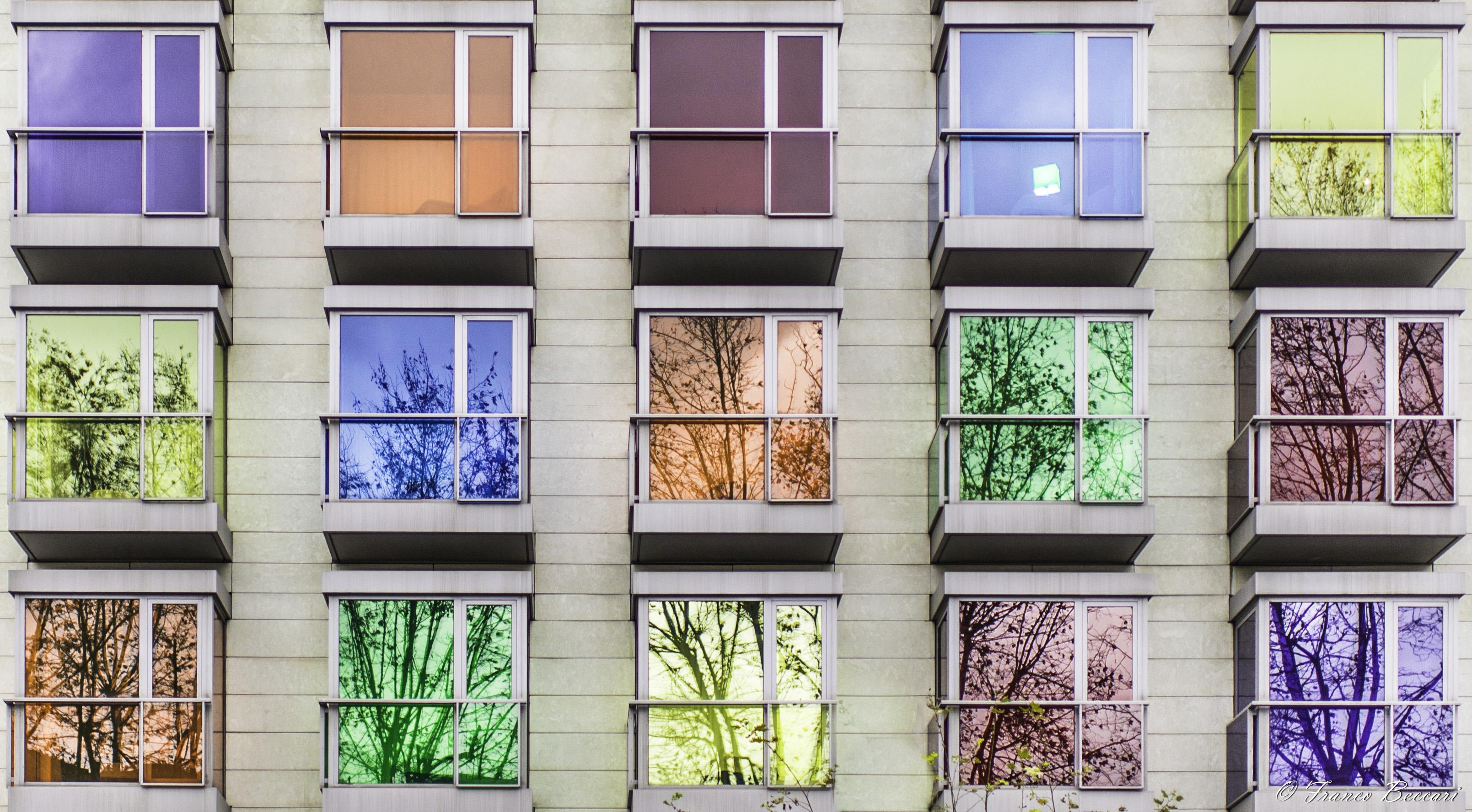 Wallpaper white black window city architecture for Window colour design