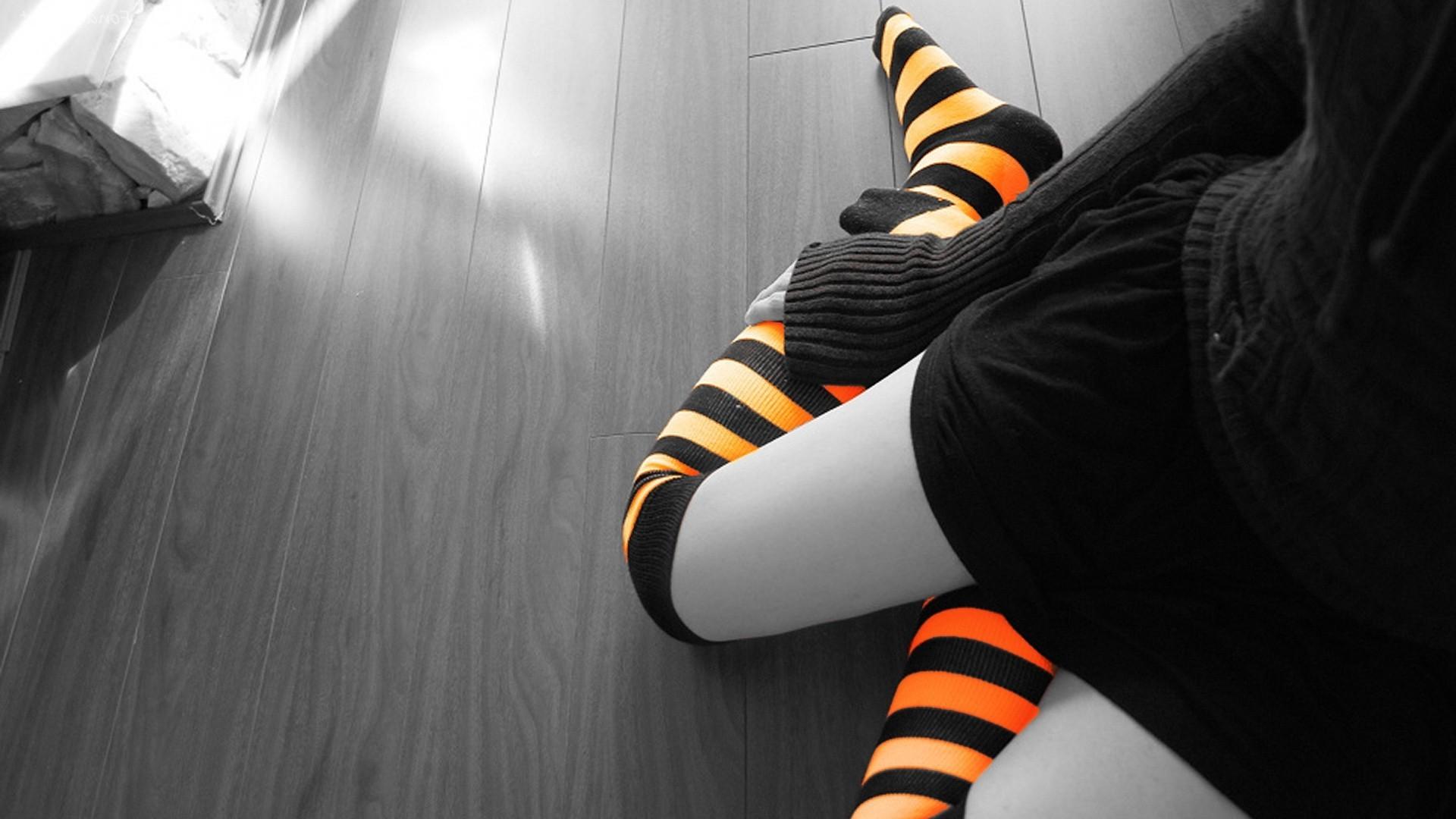 Hintergrundbilder : Weiß, schwarz, Frau, Beine, Selektive Färbung ...