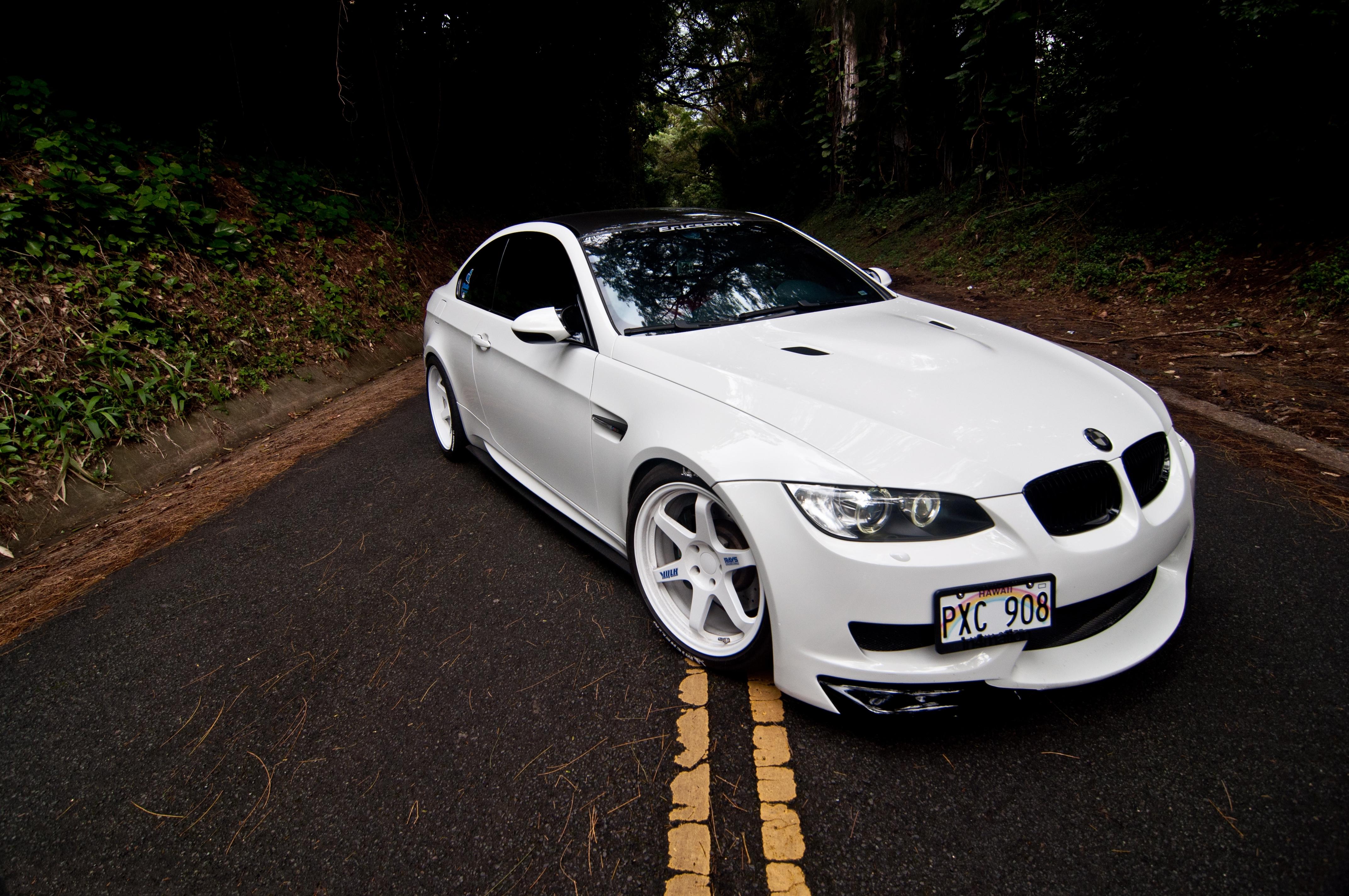 Wallpaper : white, BMW, road, hood, sports car, coupe ...