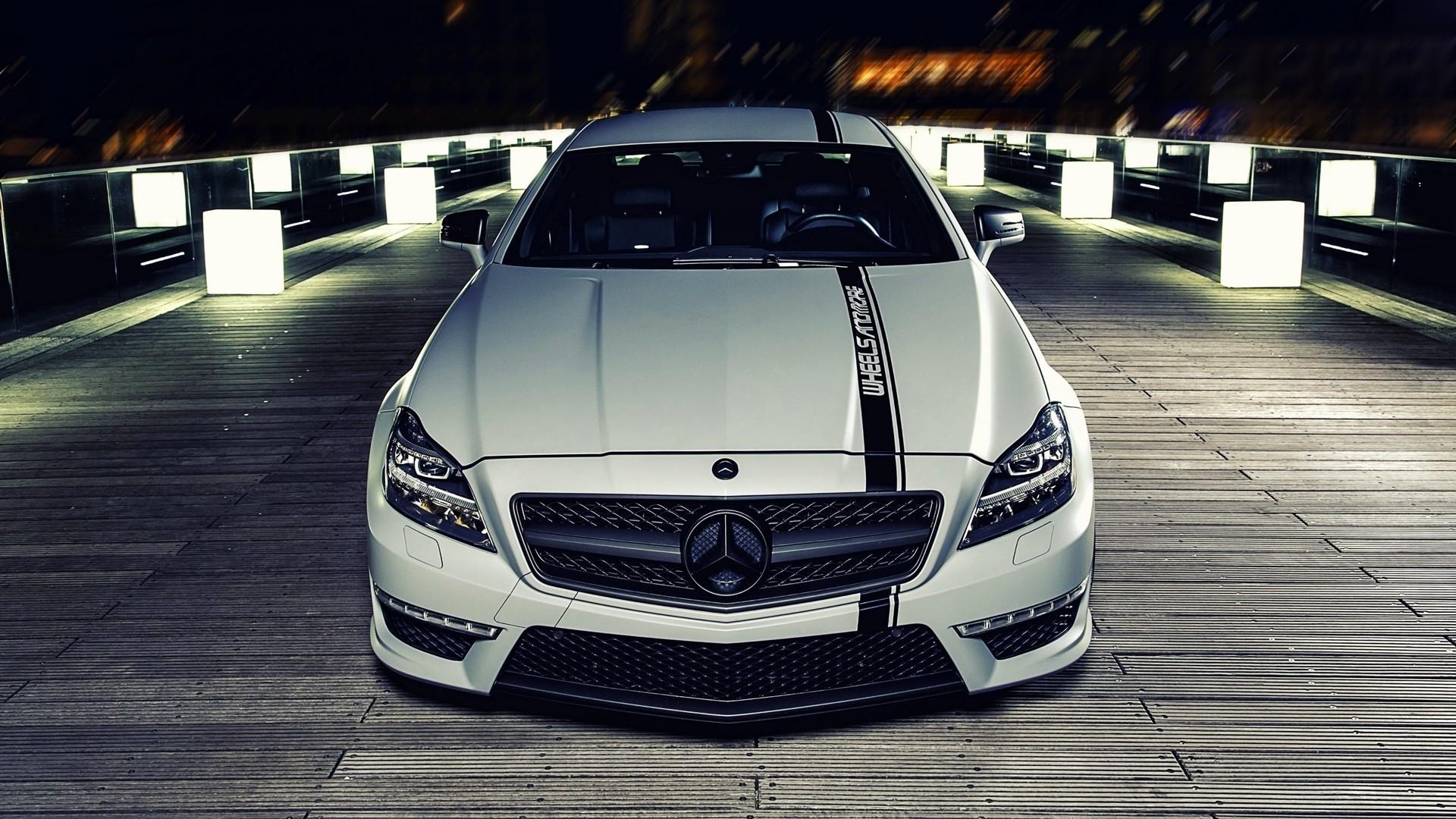 Wallpaper White Mercedes Benz Performance Car Sedan C63 Amg