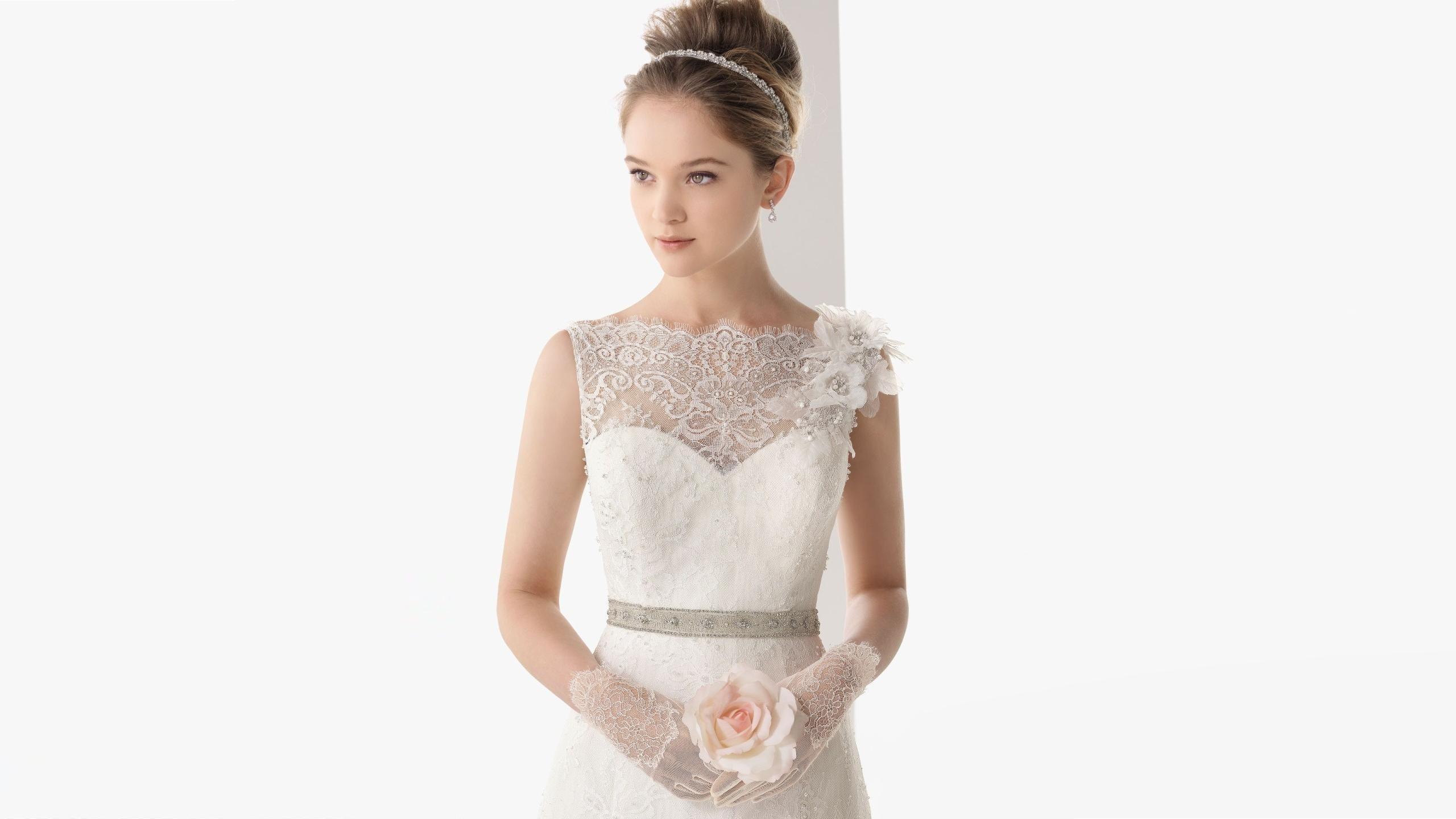 Wallpaper : White, Wedding Dress, Lace, Flower, Girl