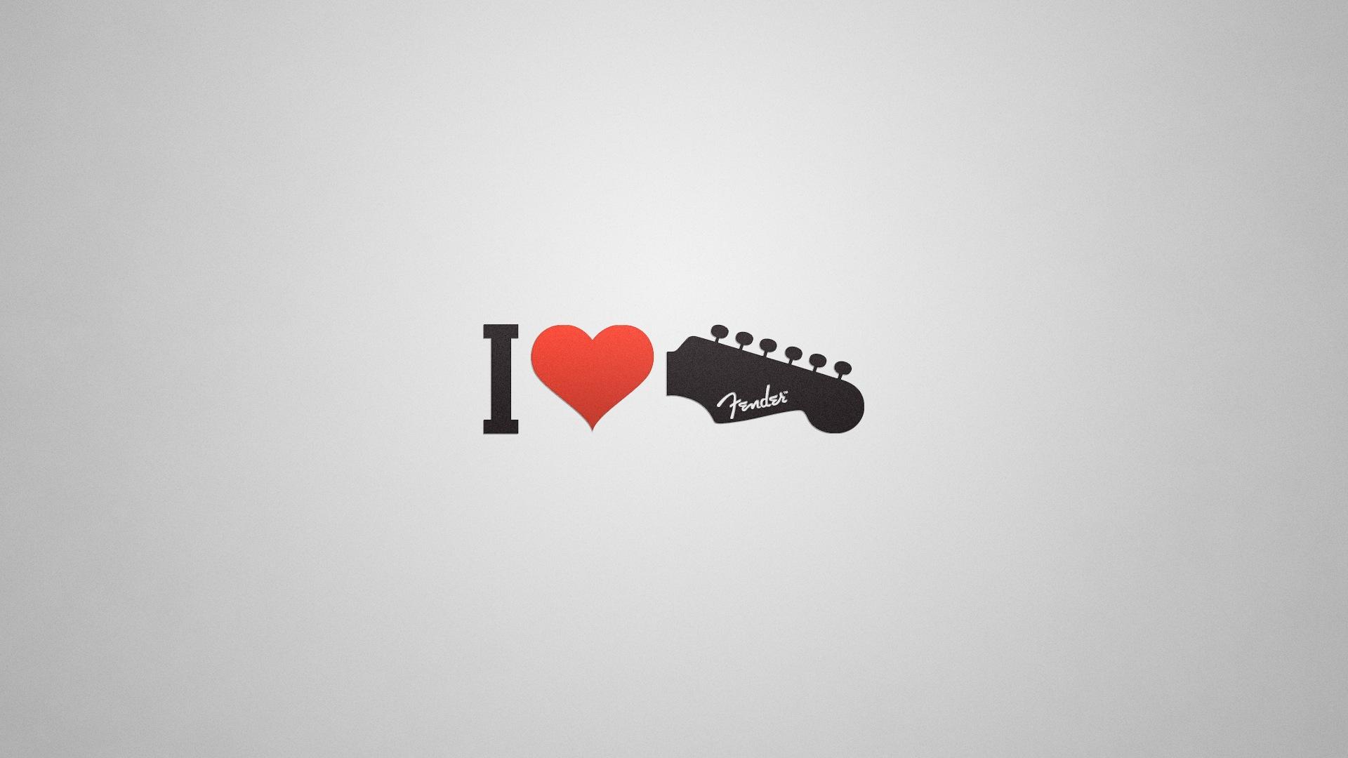 Sfondi Bianca Illustrazione Amore Rosso Chitarra Testo Logo