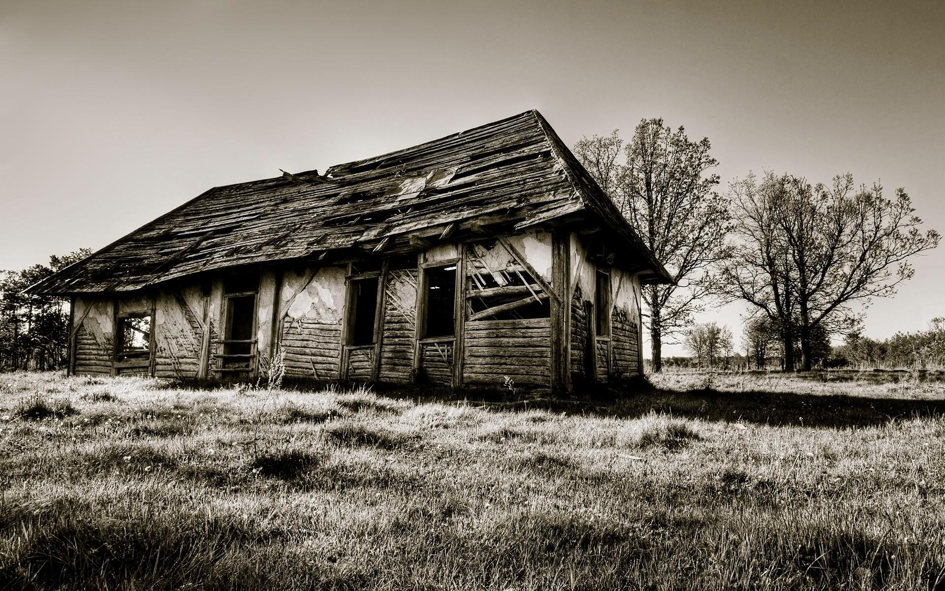 Fond d 39 cran monochrome b timent hiver la for Agrandissement maison zone rurale