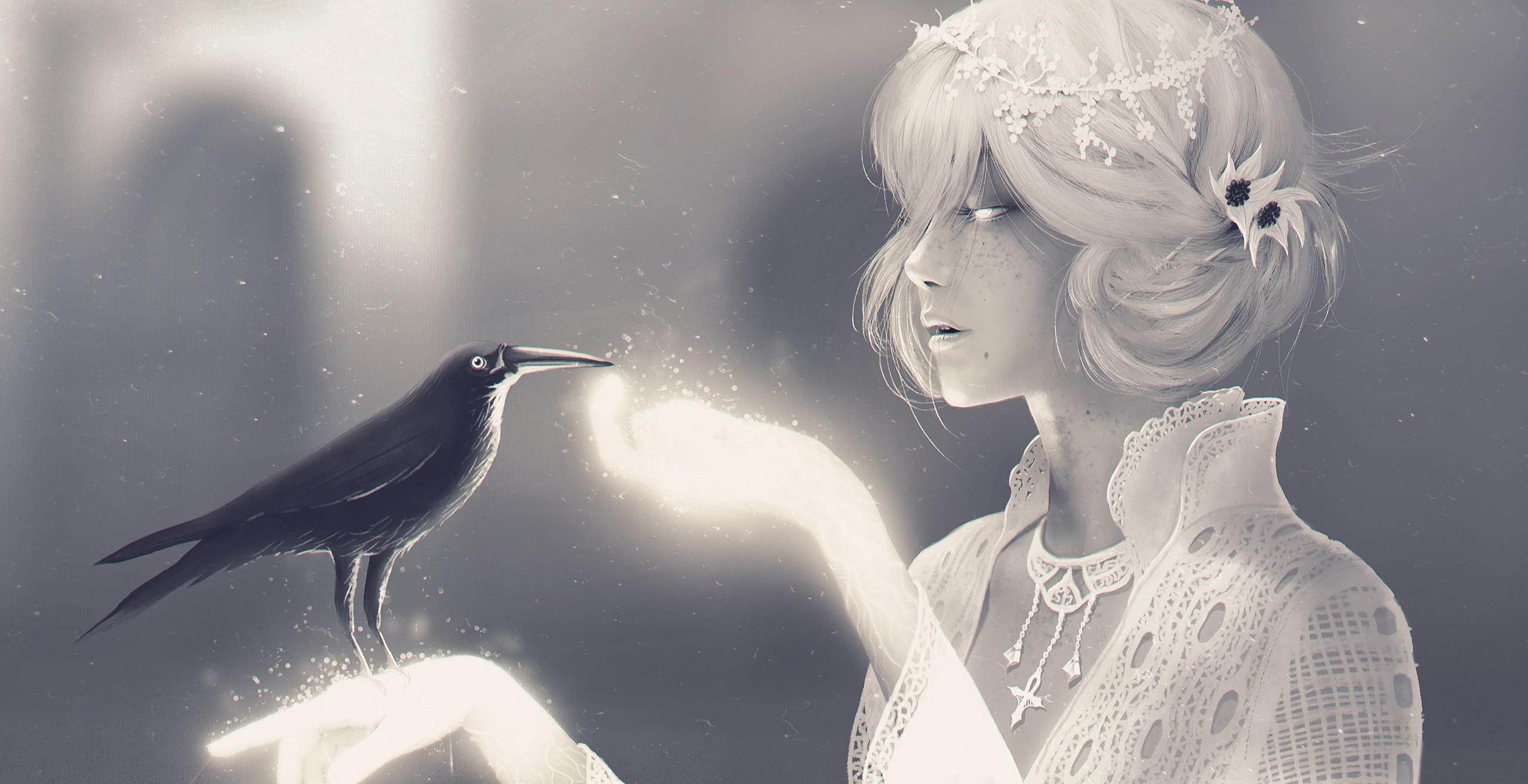 мистические картинки птица и человек может показаться, что