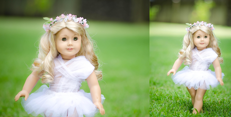 3b1c1e411d46 hvid portræt blond blomster kjole hår bokeh Legetøj lyserød dukke tutu lys  barn smuk pige naturlig