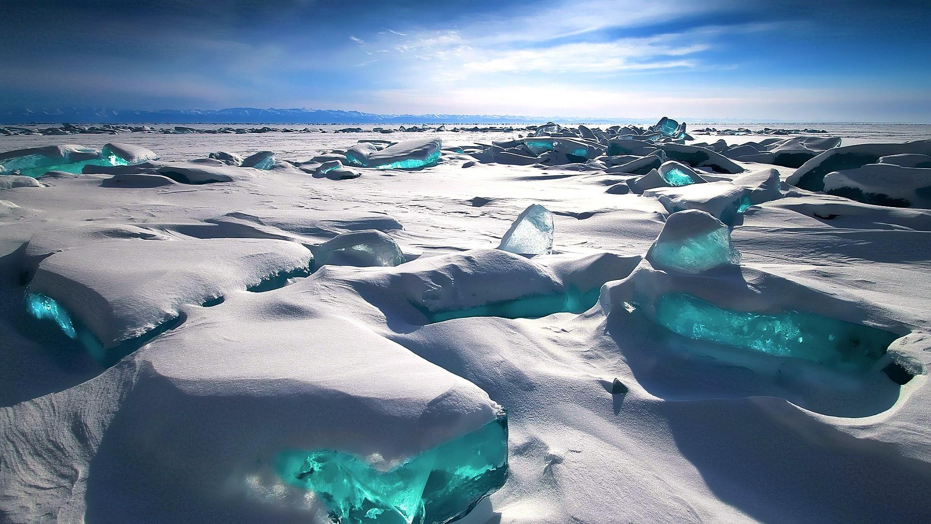White Sea Snow Iceberg Blue Ice Cold Arctic Freezing Melting Ocean Wave Glacier Wind