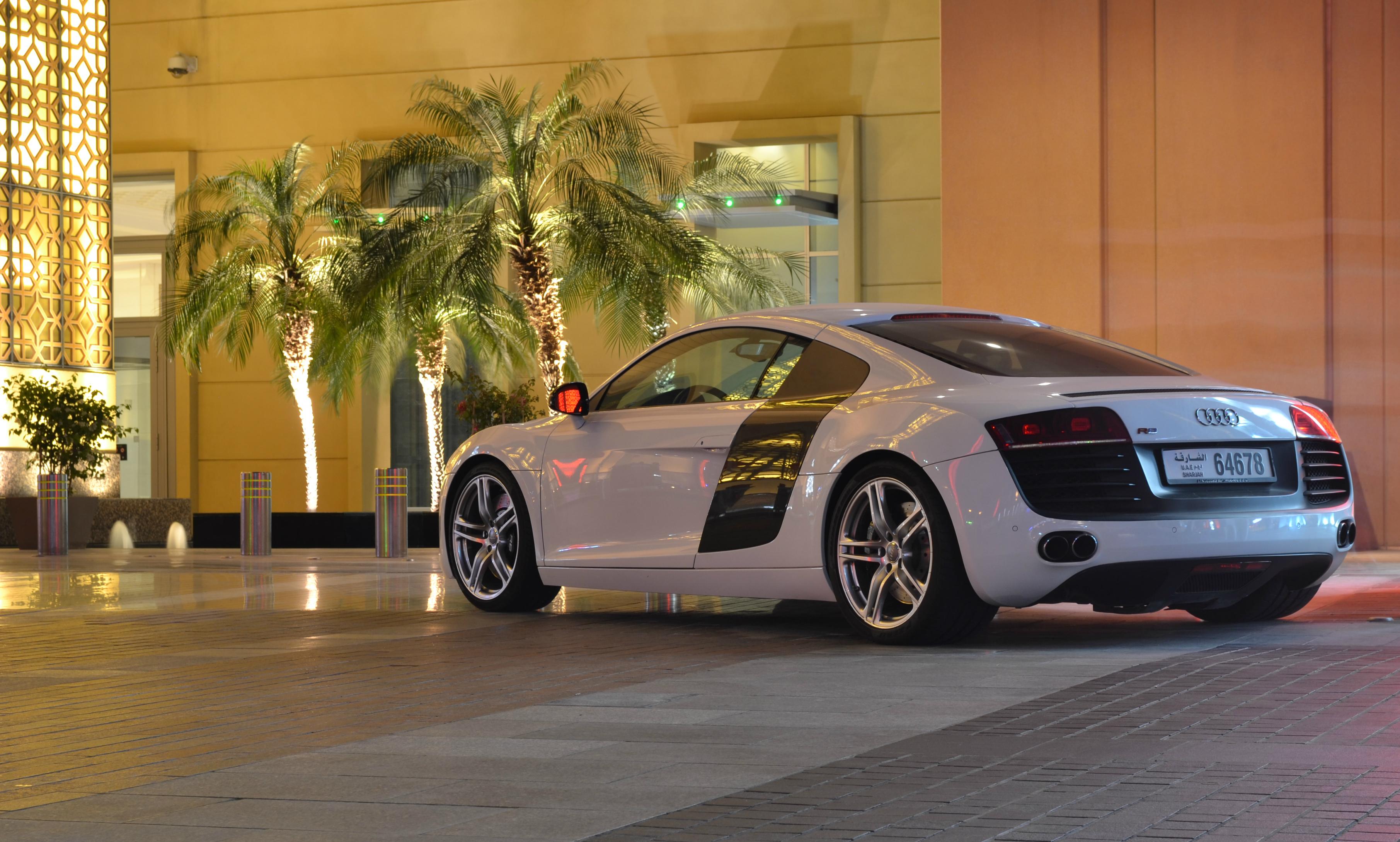 Wallpaper White Street Night Supercars Nikon Dubai