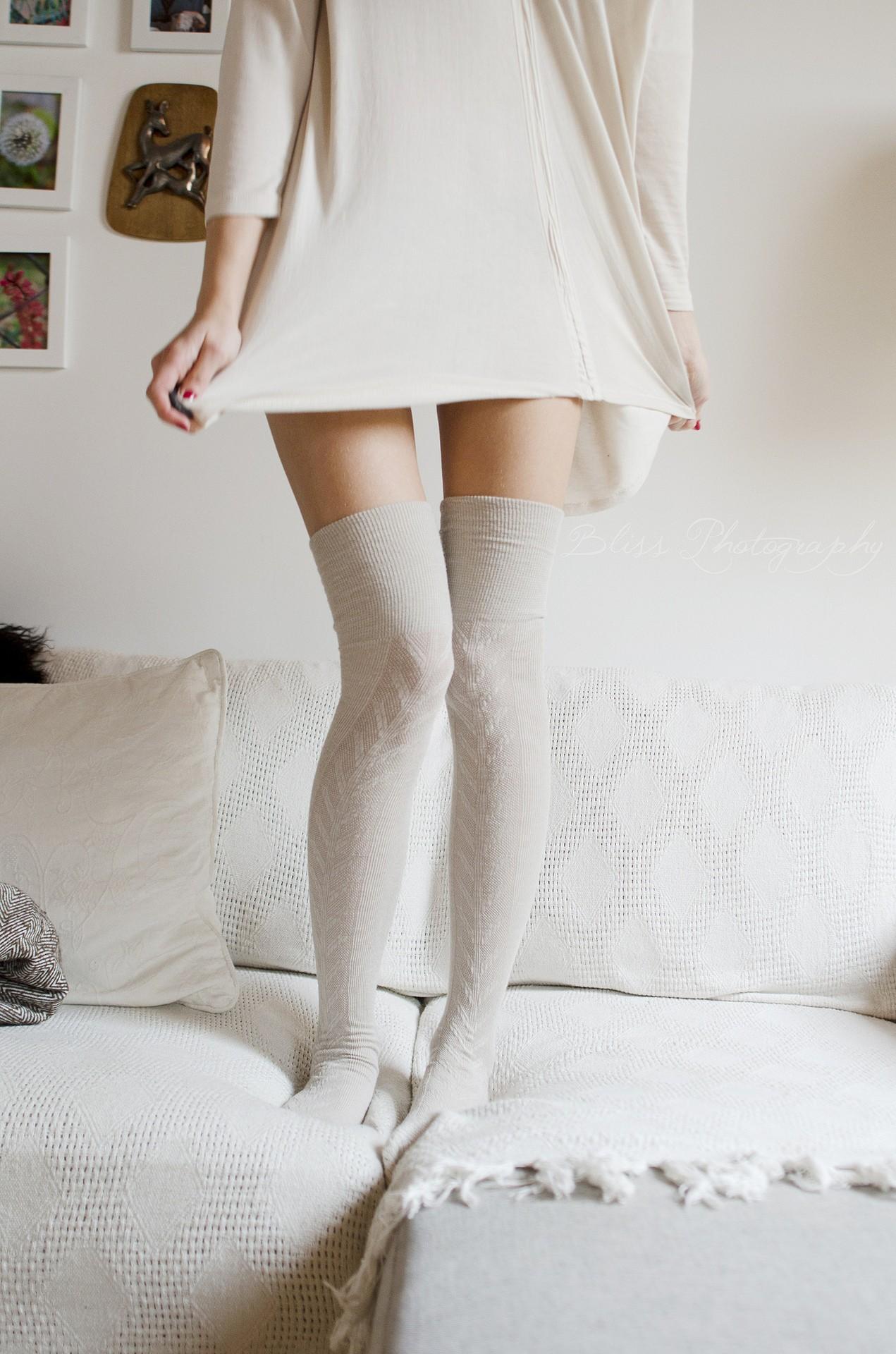 стройные худые ноги в чулках бешенную еблю